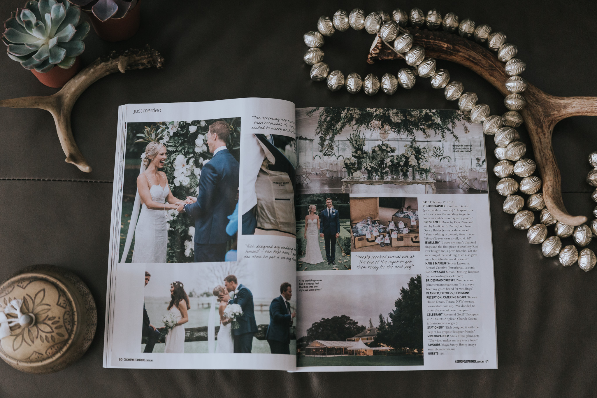 cosmopolitan bride wedding feature terrara house