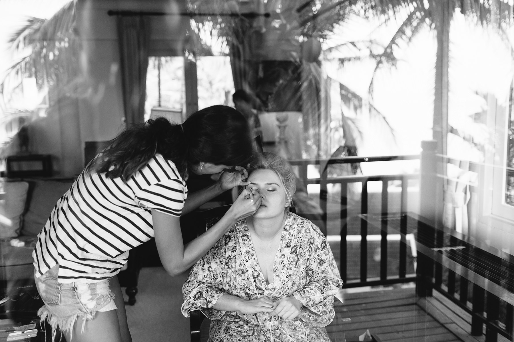 intercontinental koh samui bride getting ready