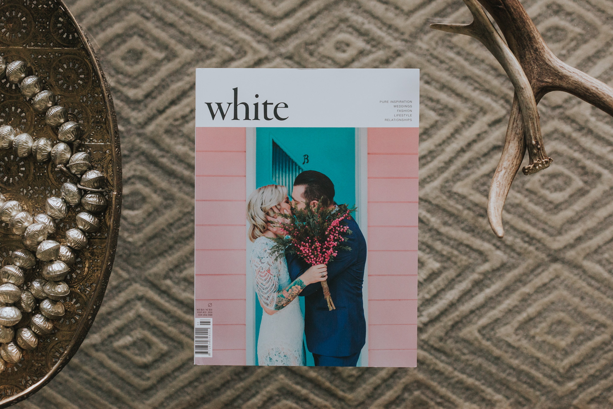 white magazine real wedding feature