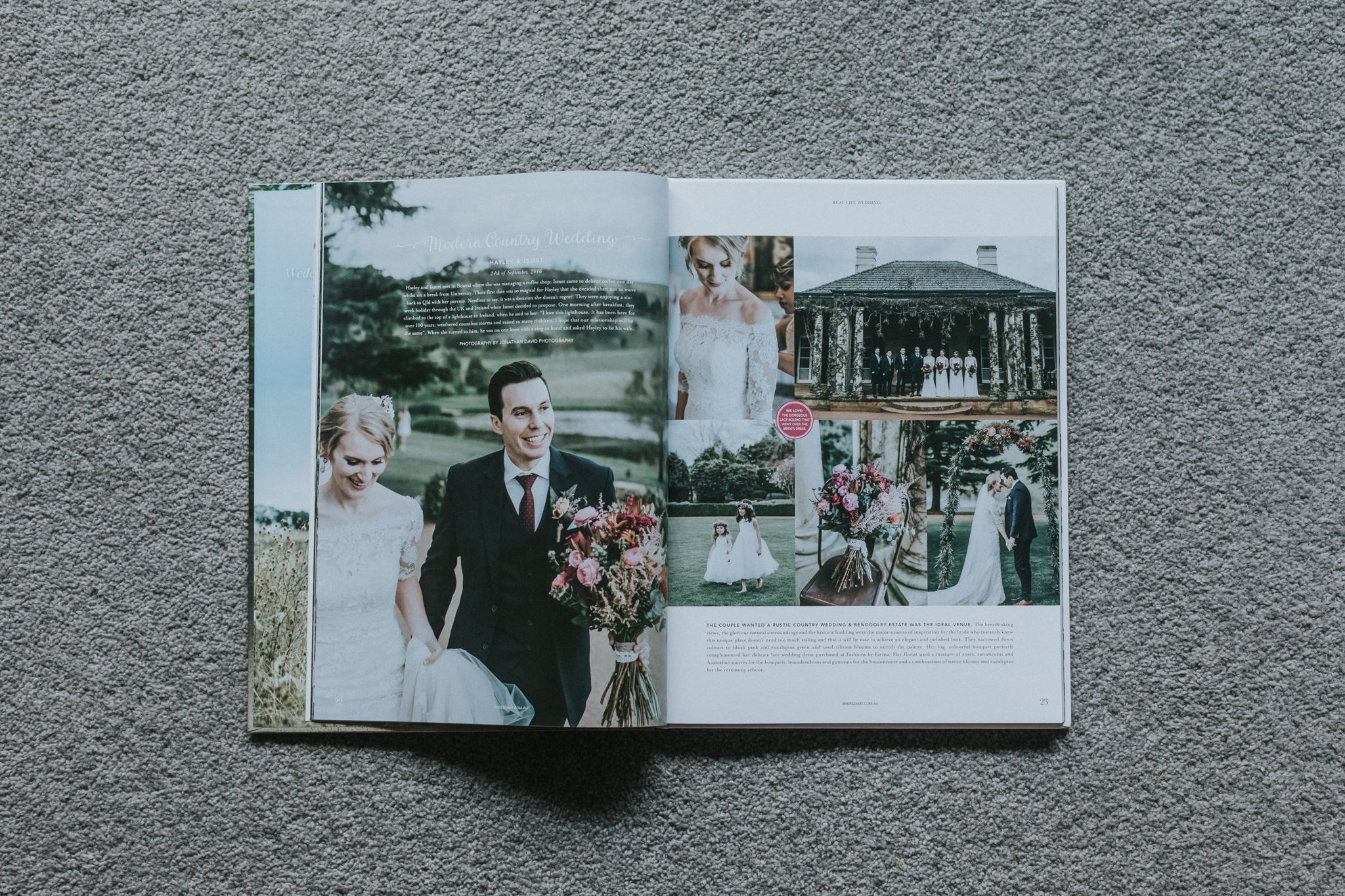 bendooley estate real wedding feature