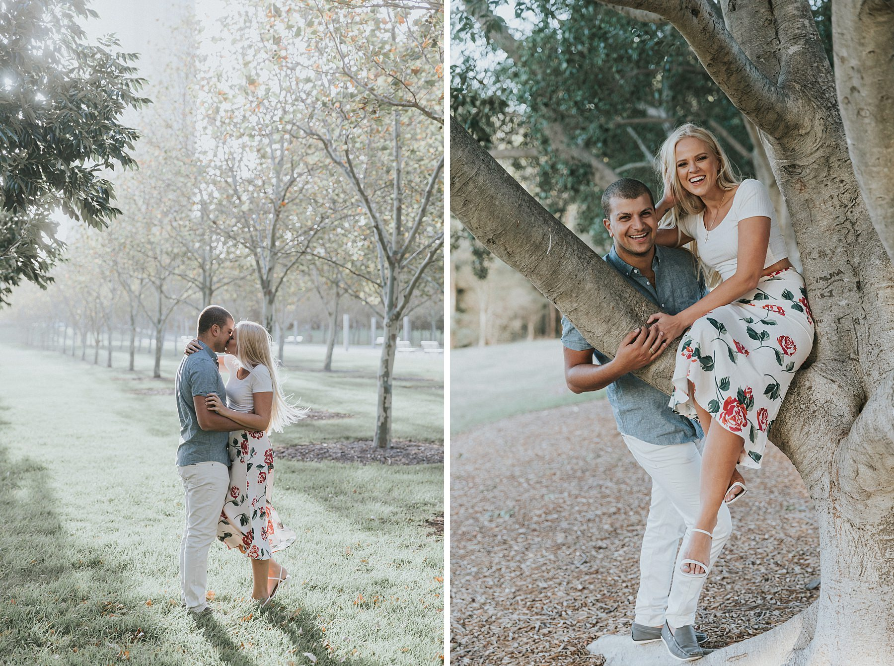 bicentennial park engagement photos