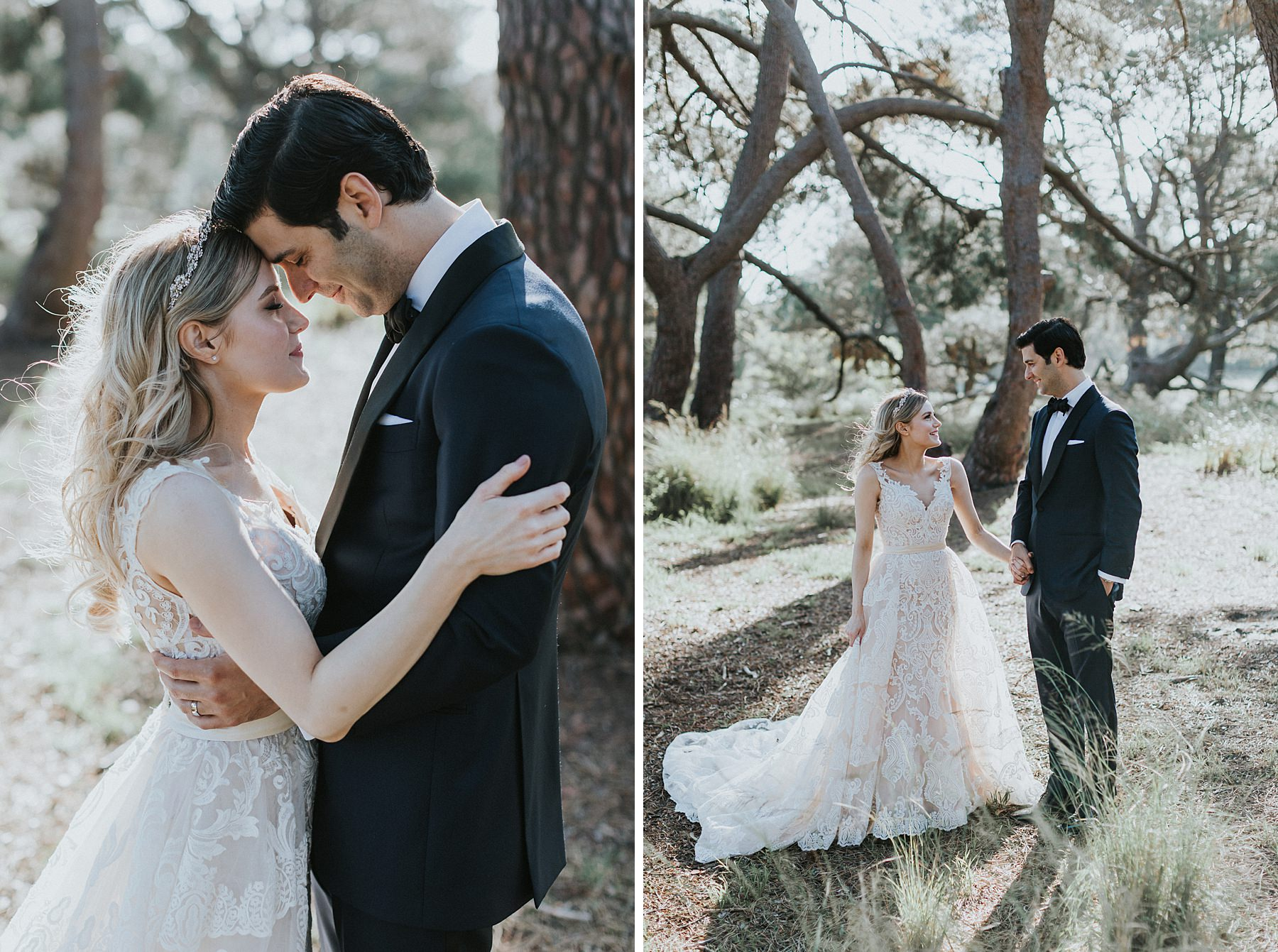 romantic wedding photography in centennial park in sydney