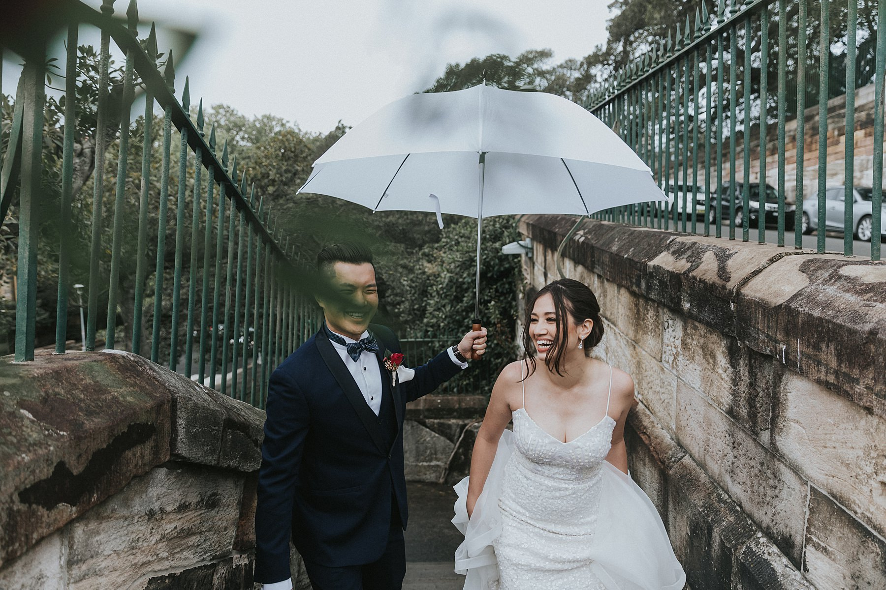 observatory hill park wedding photos in sydney cbd