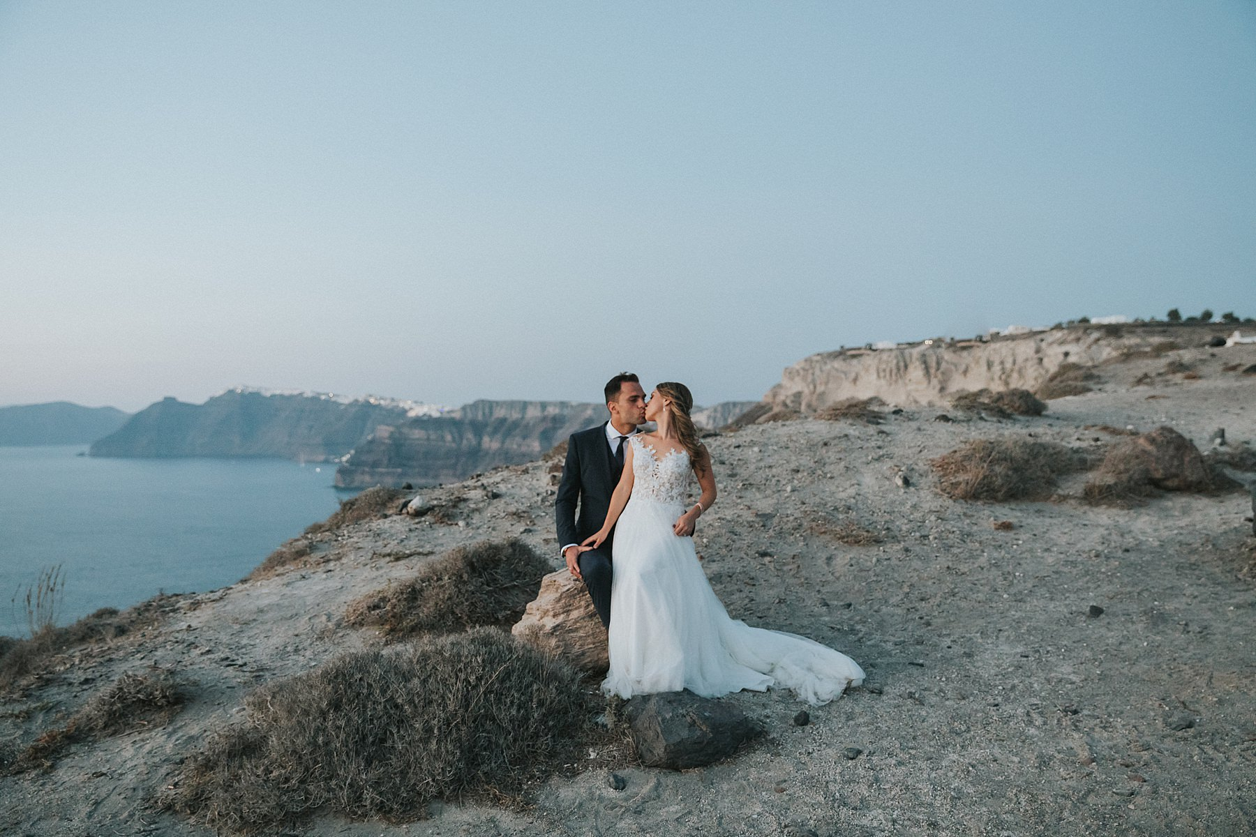 santorini greek islands wedding portraits