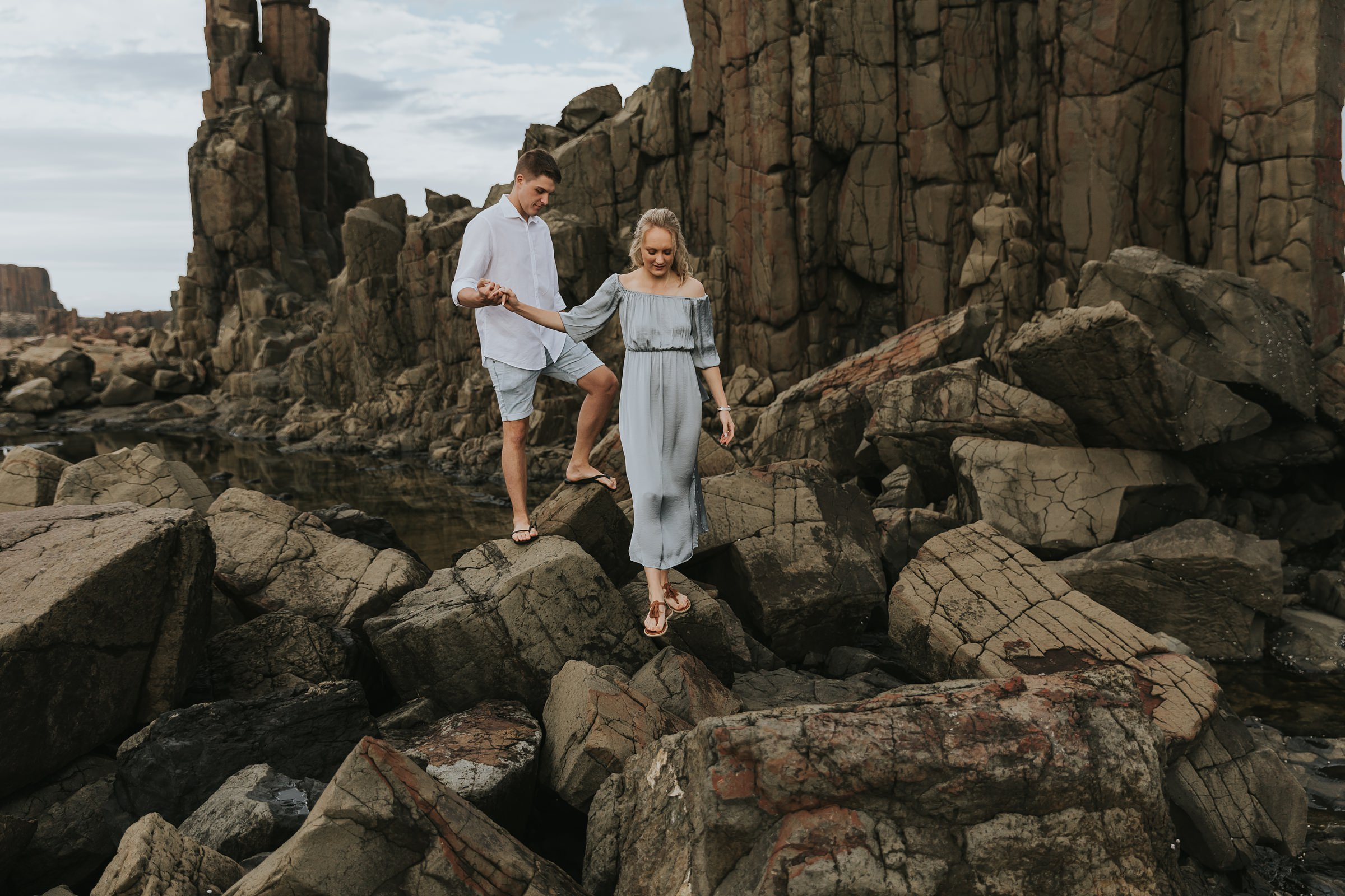 bombo quarry coast engagement session
