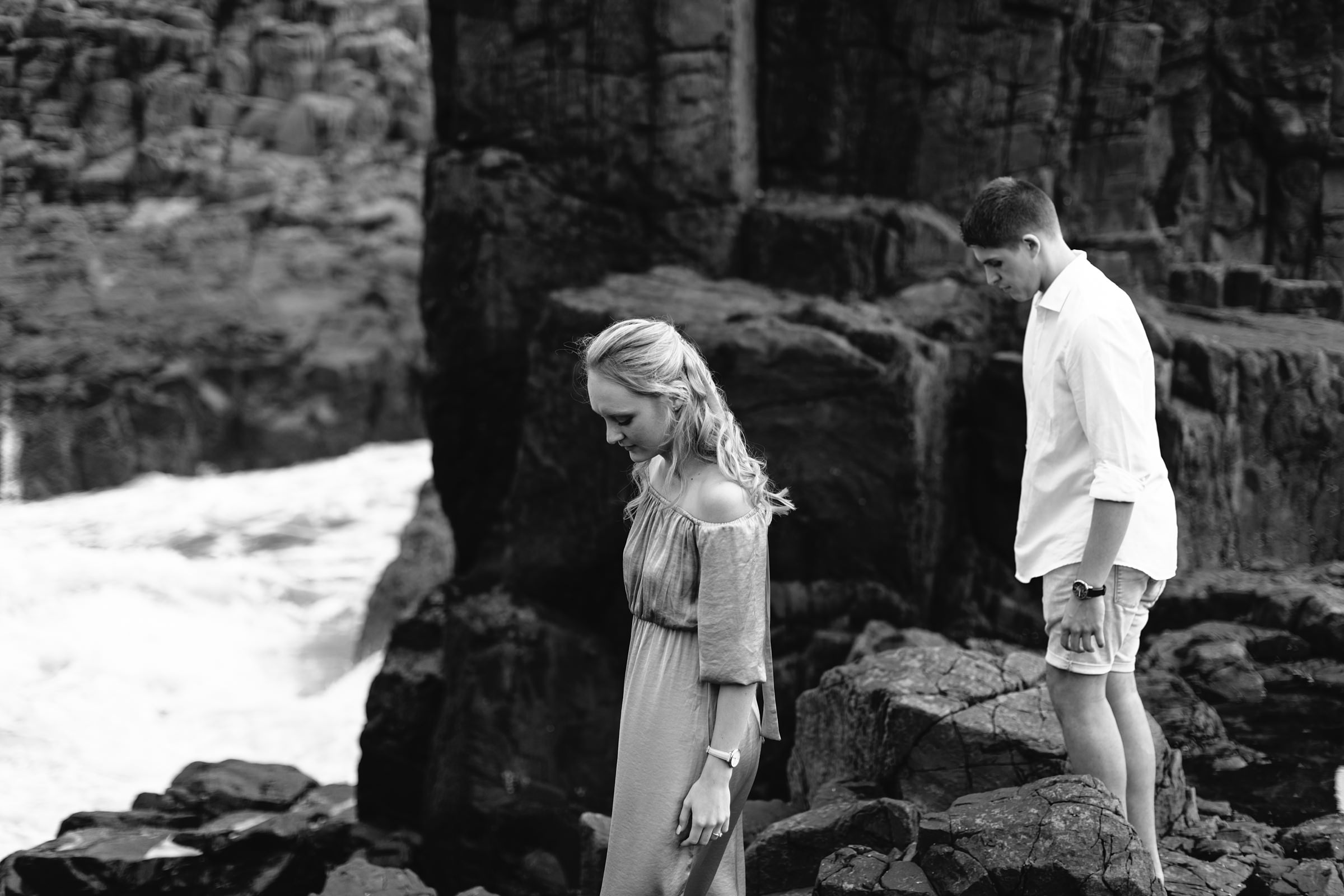 natural engagement photos unscripted at bombo quarry