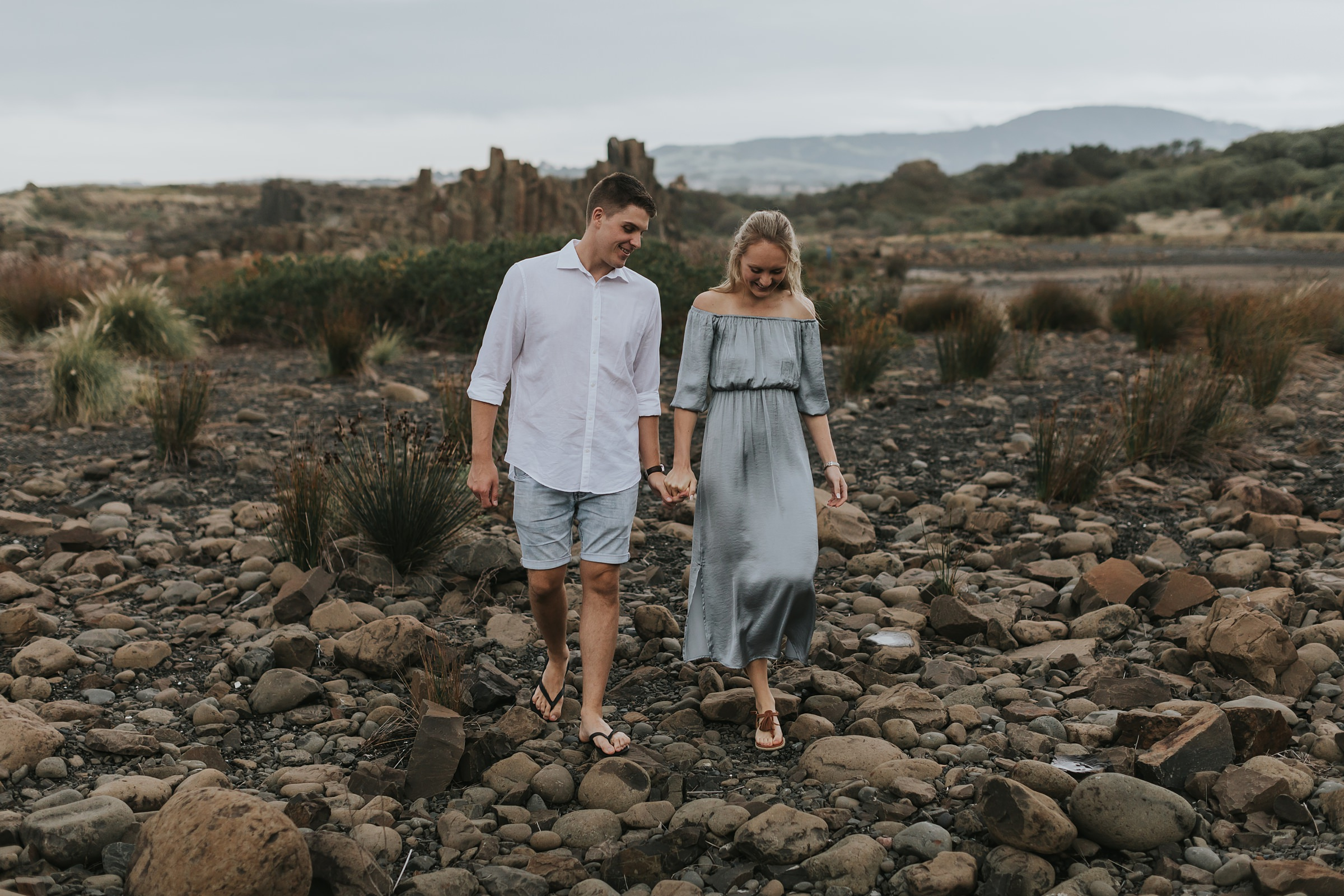sydney engagement photography at bombo quarry