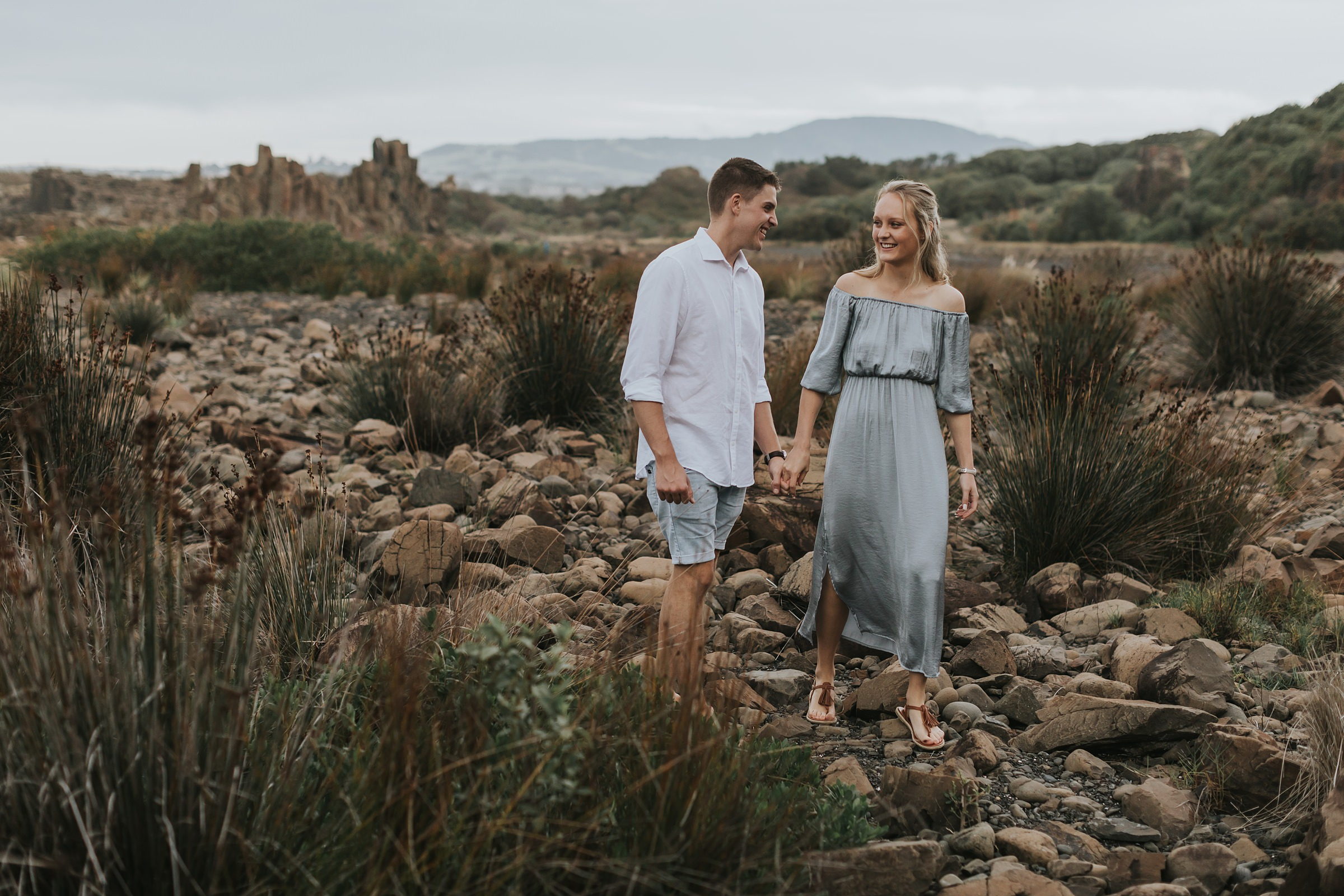 overcast engagement portraits at bombo
