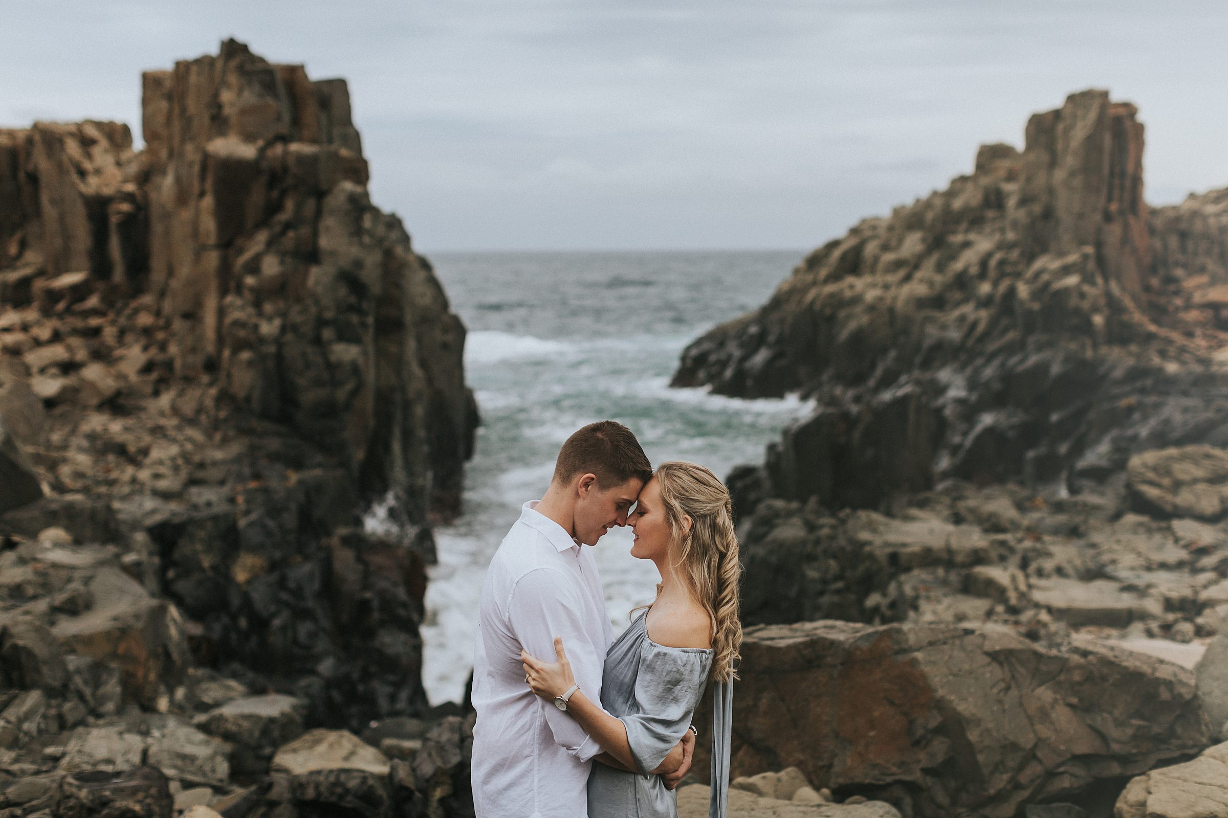 bombo quarry engagement portraits sydney