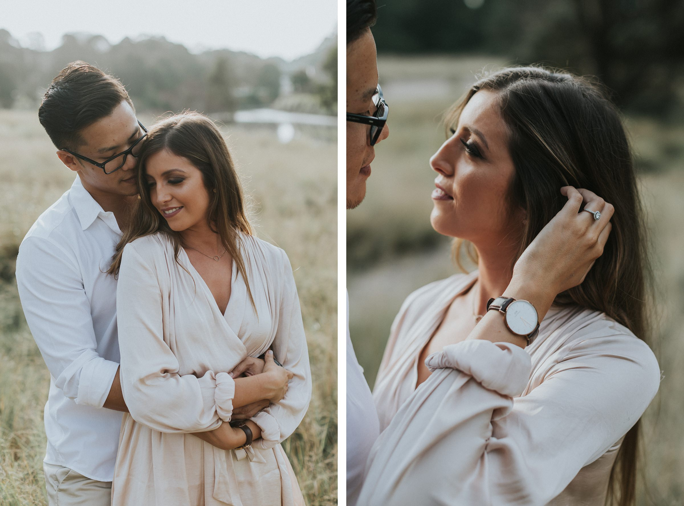 romantic natural engagement photos