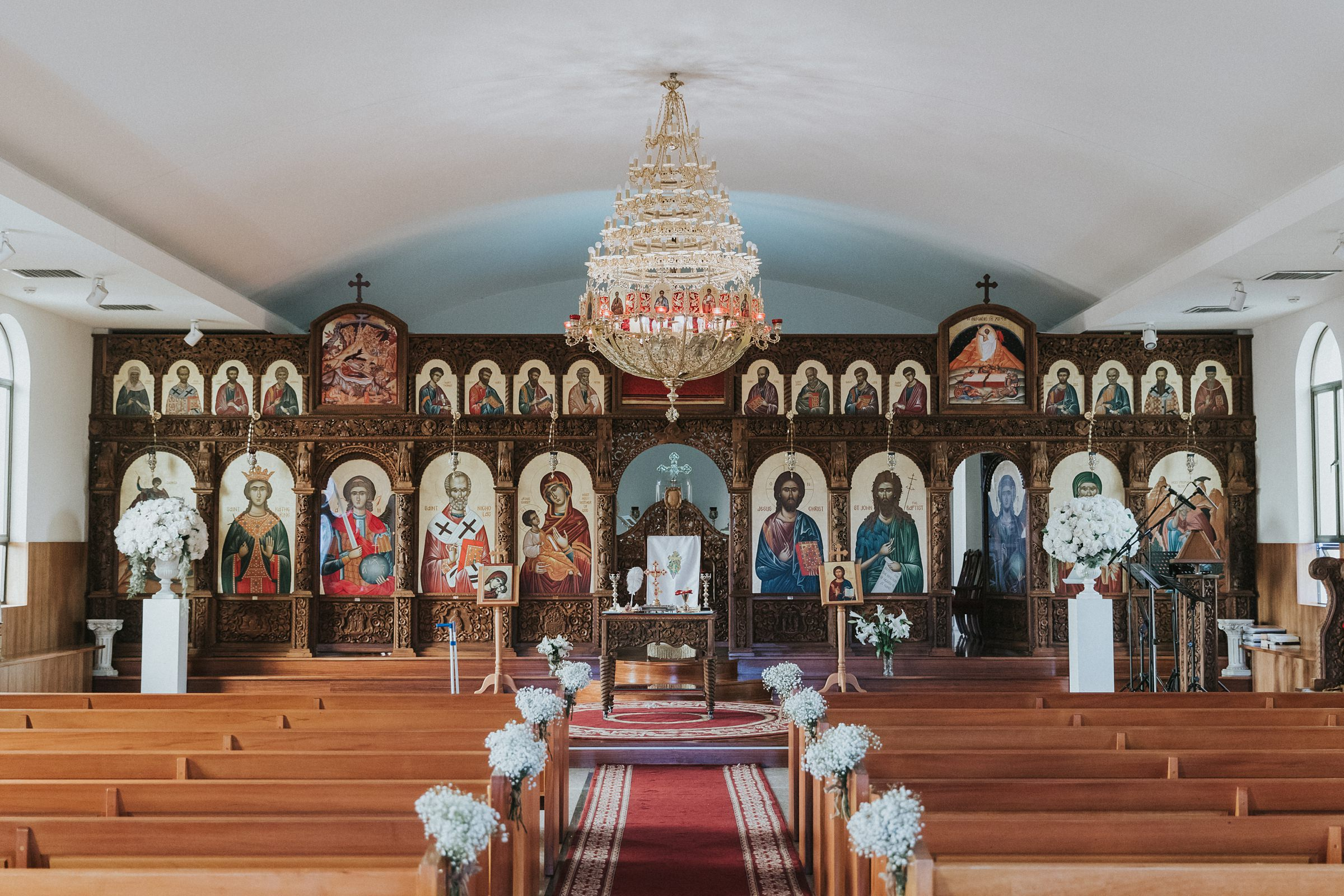 iconostasis in an antiochian orthodox wedding ceremony in sydney