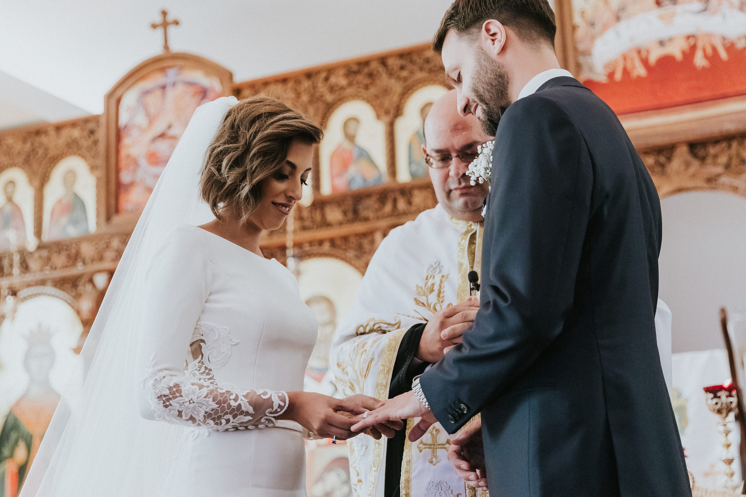 church wedding ceremony portraits