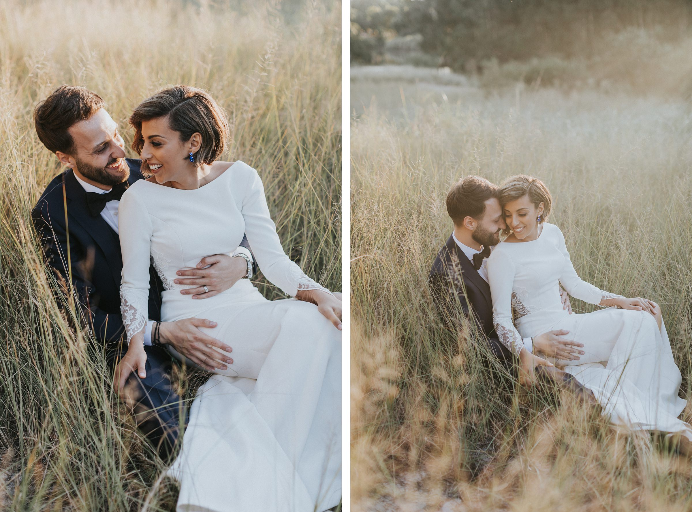 long grass wedding photos