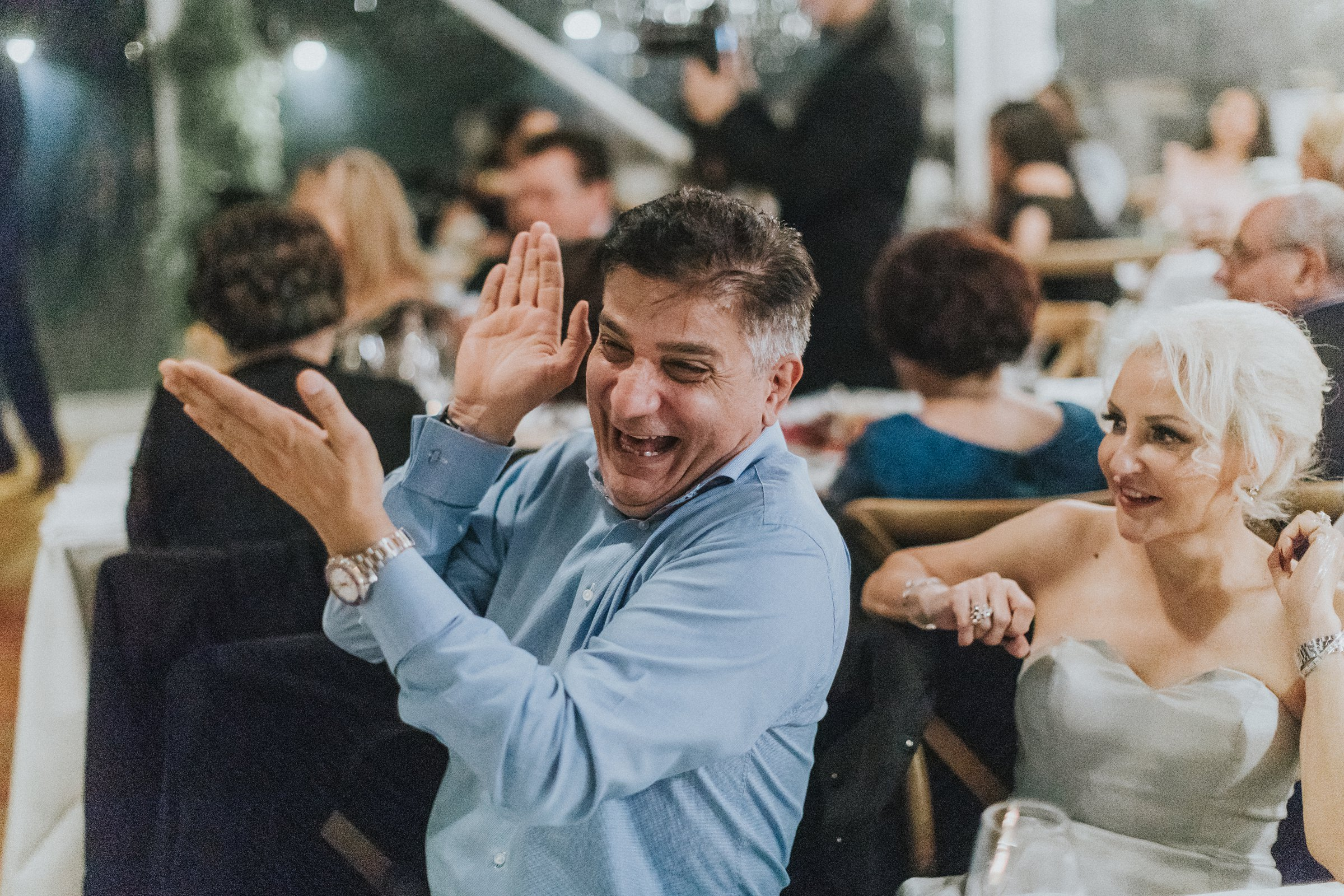 candid photography of centennial park wedding reception