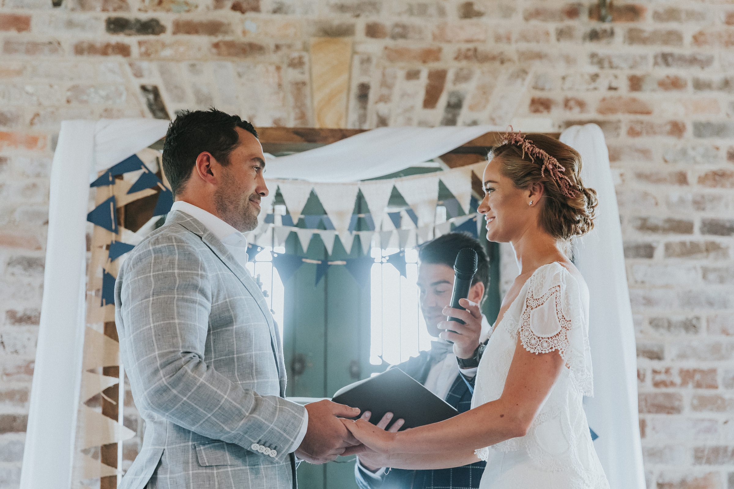 exchanging vows at mali brae farm