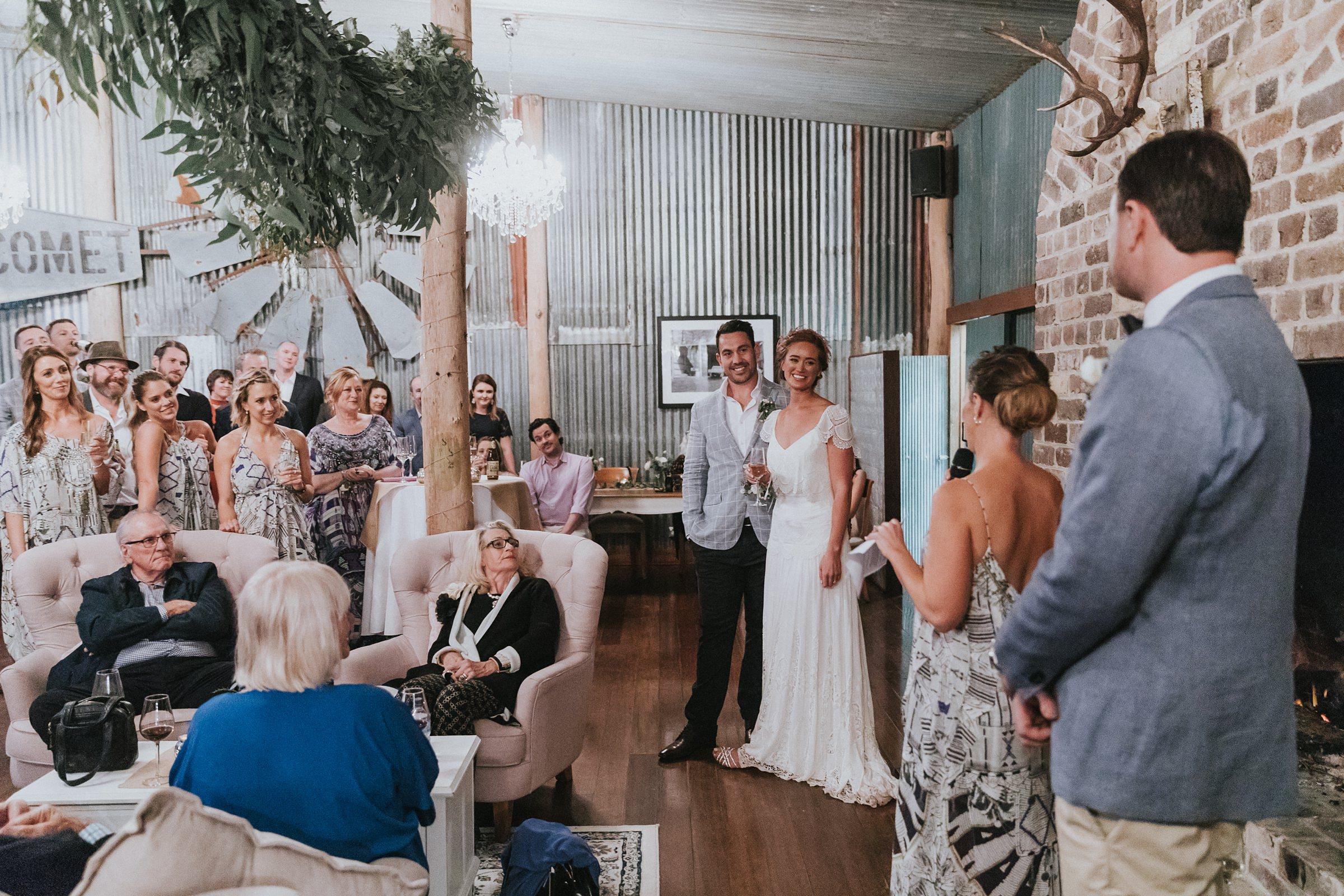 mali brae farm speeches during wedding reception