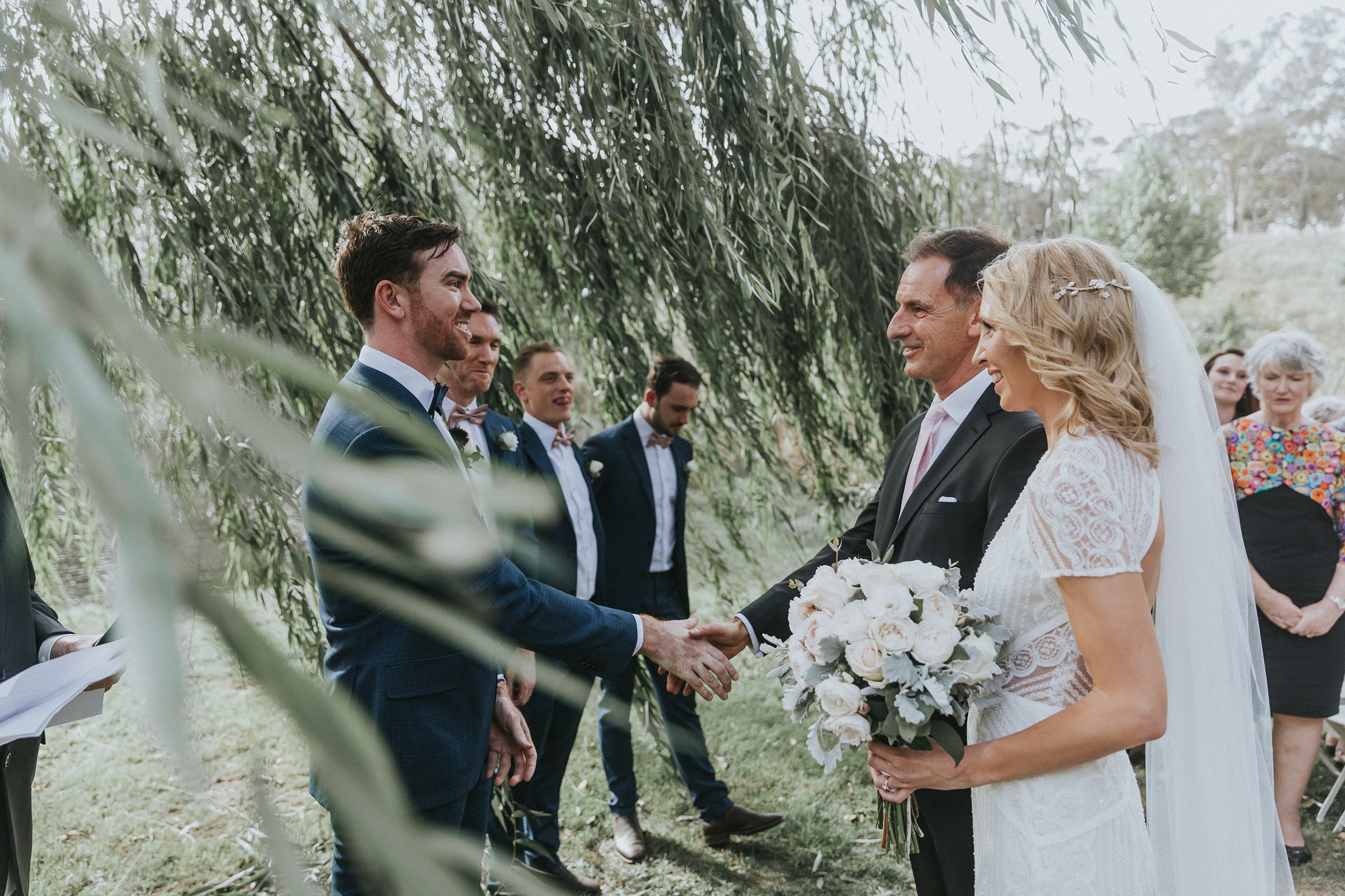mali brae farm wedding ceremony