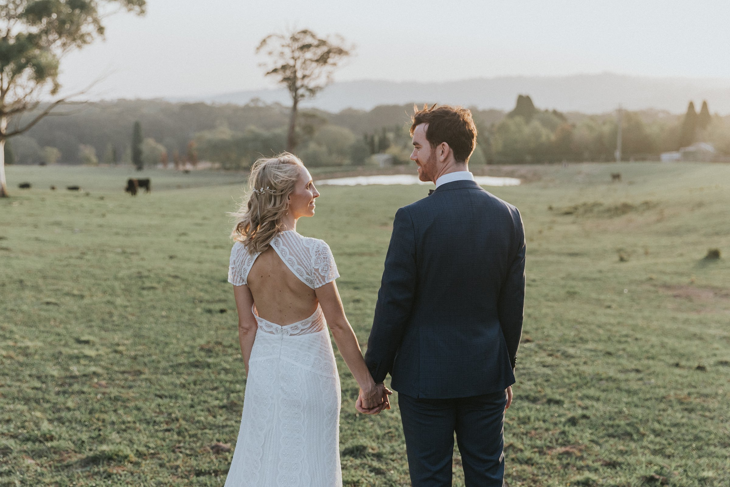 natural wedding portraits at mali brae farm