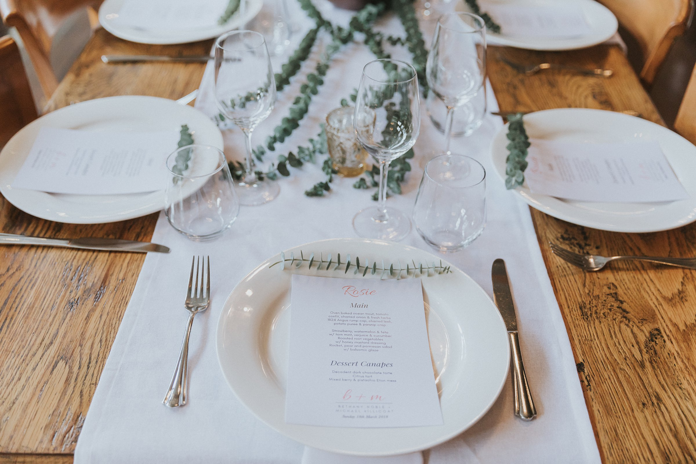 mali brae farm wedding reception decor