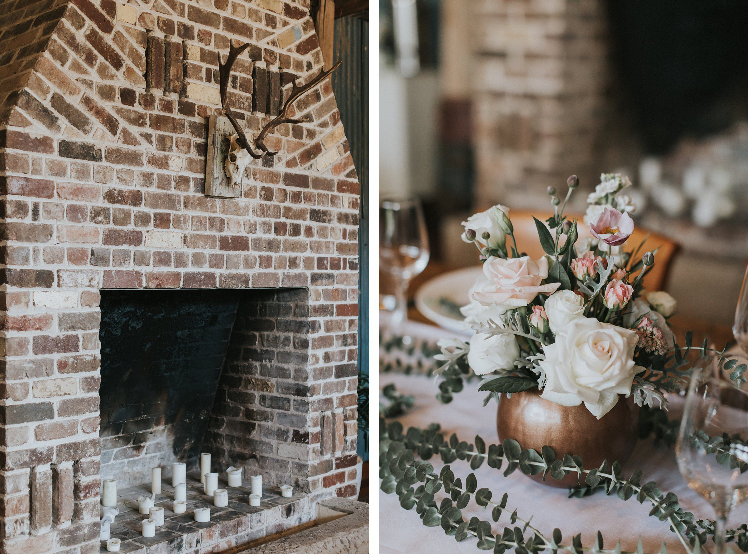 simple colours and tones at wedding reception