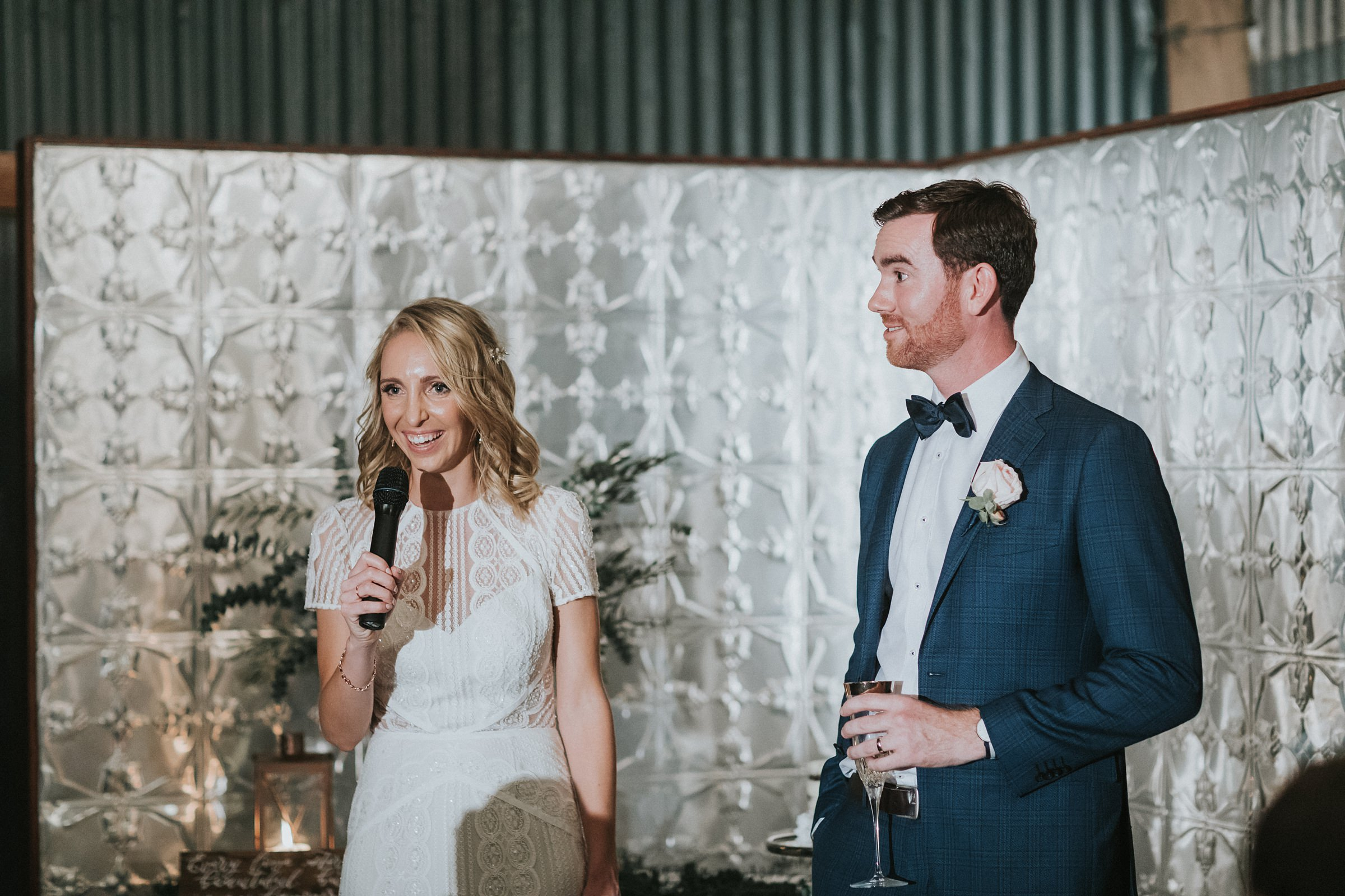 bride and groom speech at mali brae farm