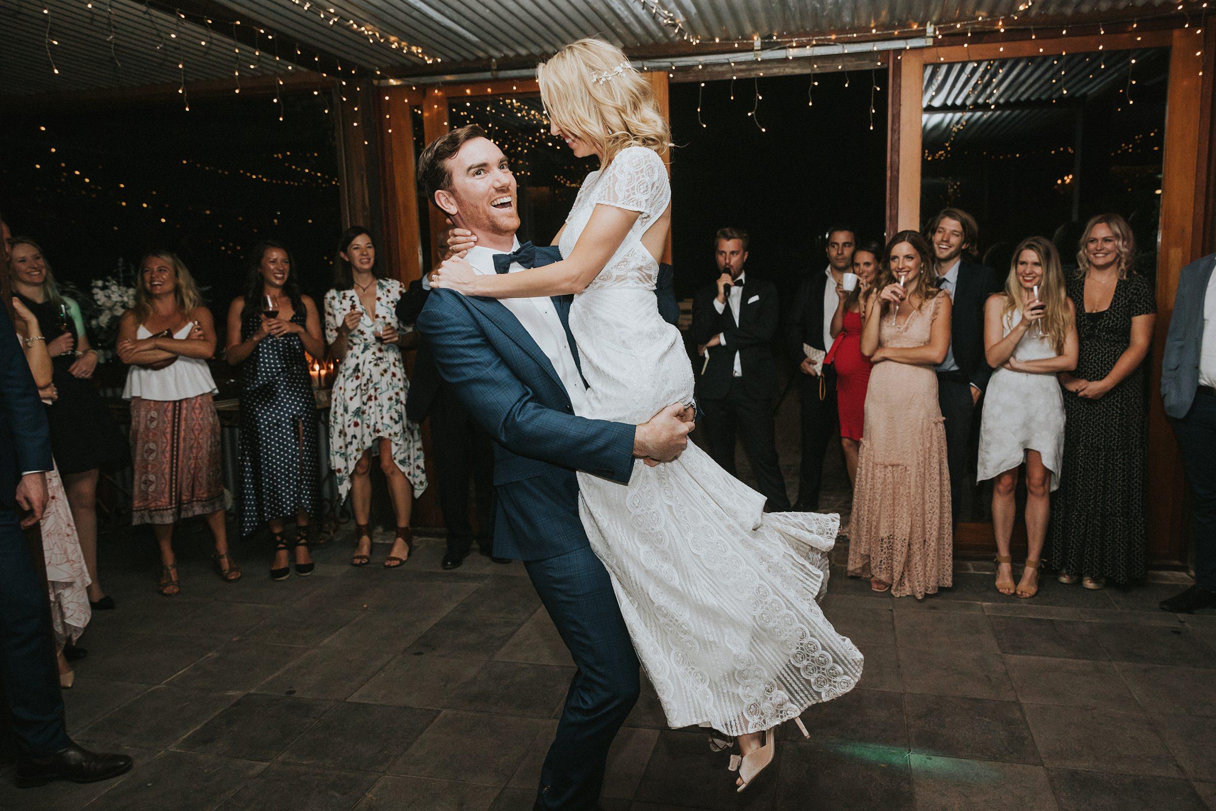 bridal waltz at mali brae farm dancefloor