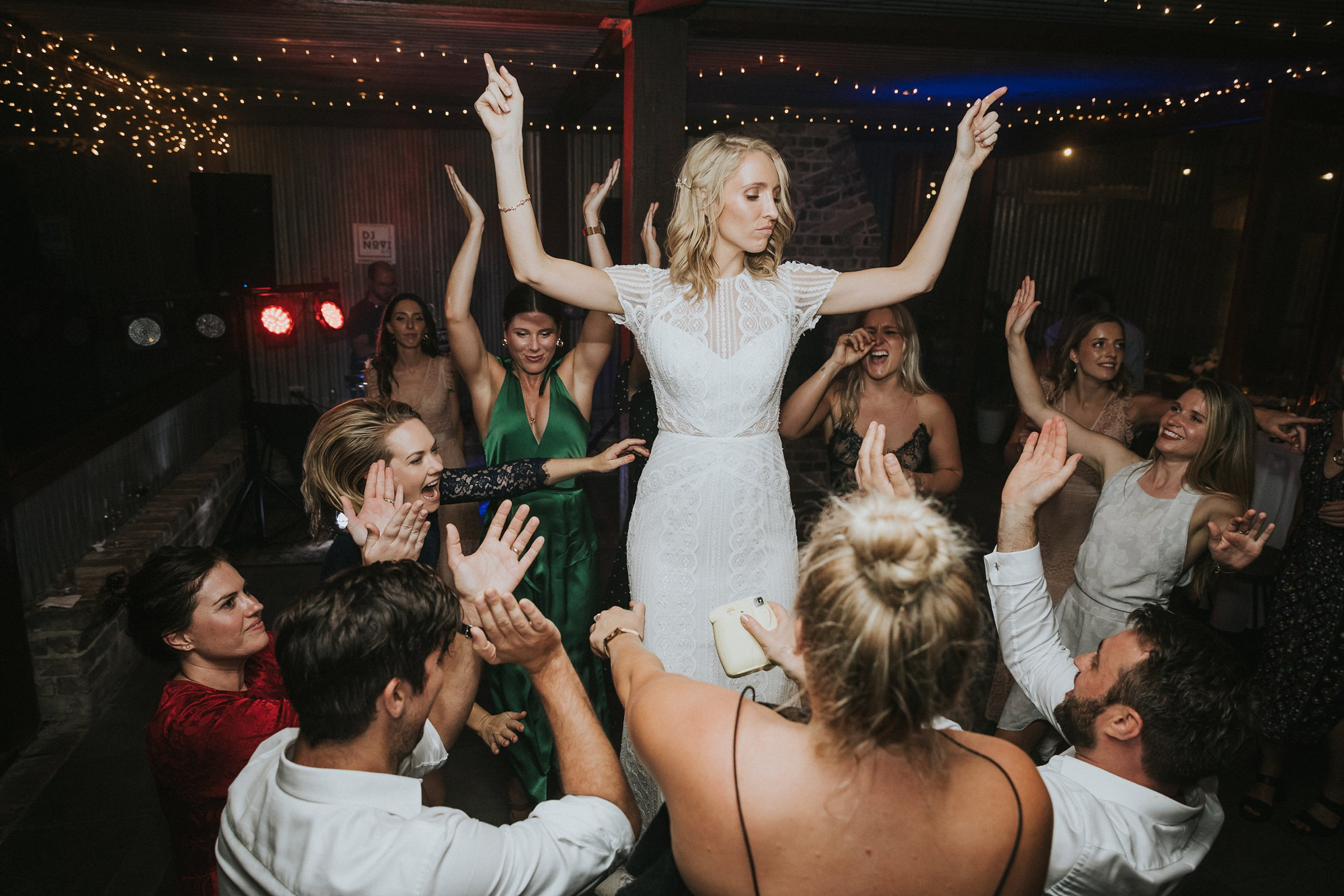 bride causes a stir at the wedding reception