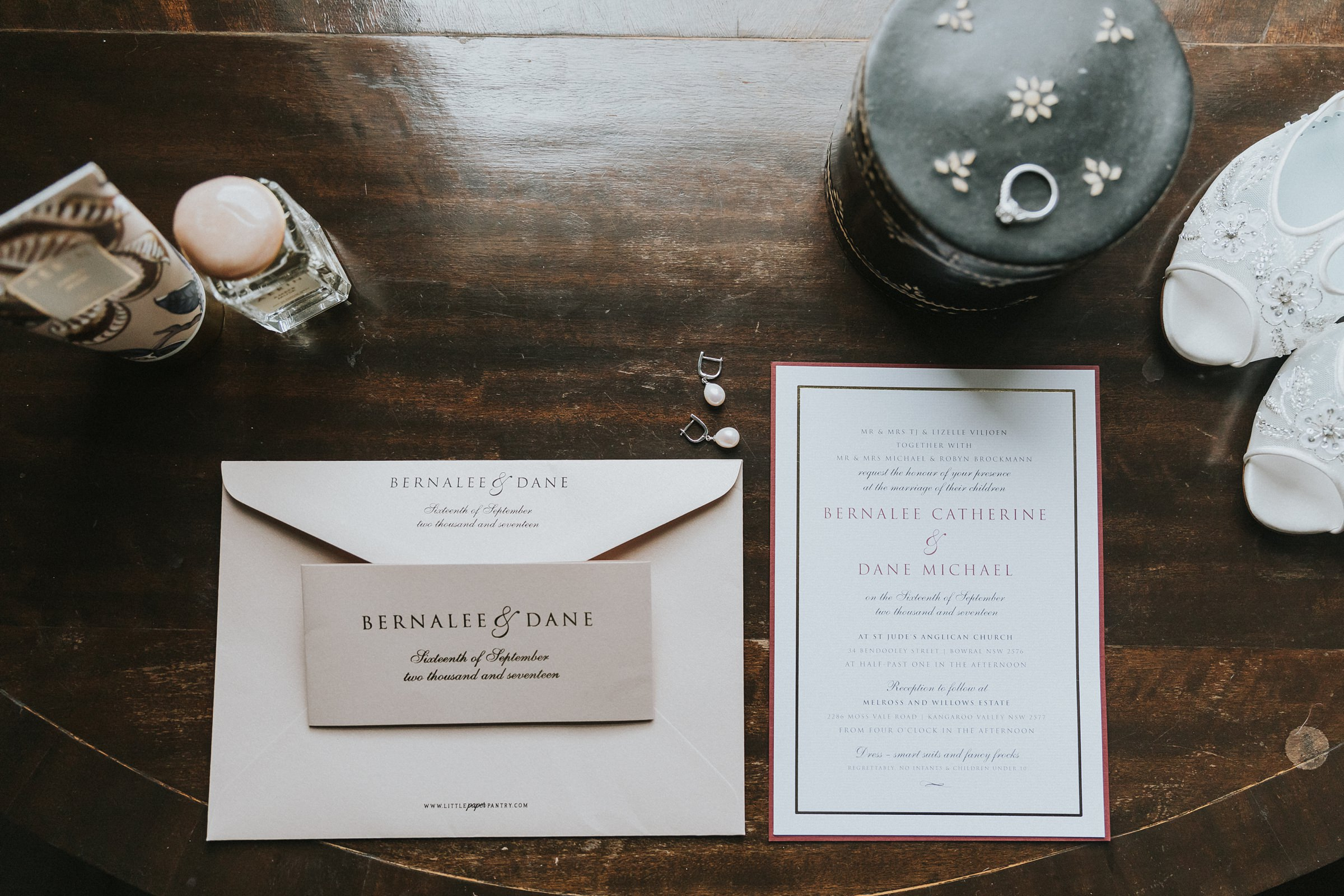 wedding stationery at the coach house bowral