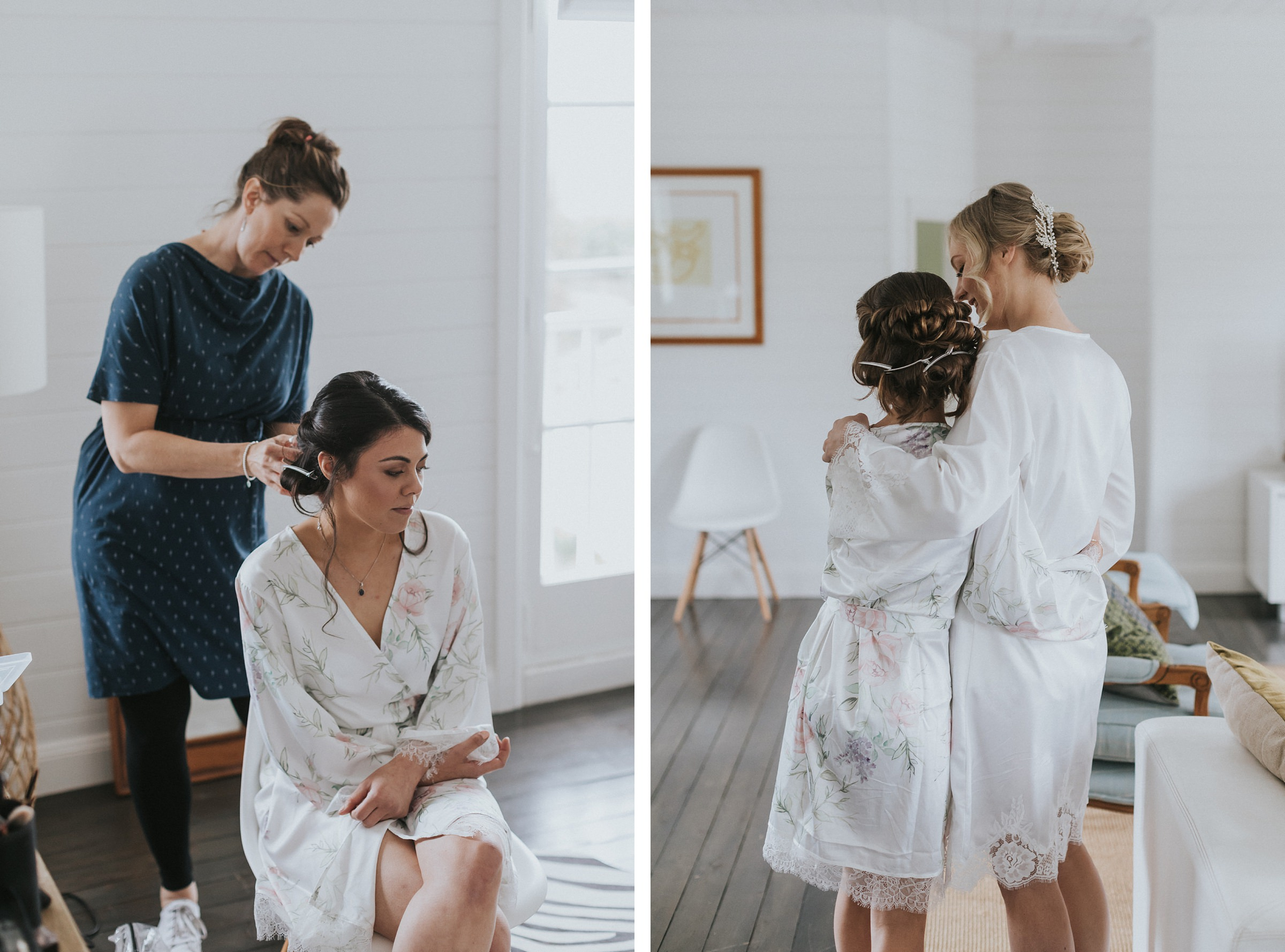 bowral coach house wedding bride preparations