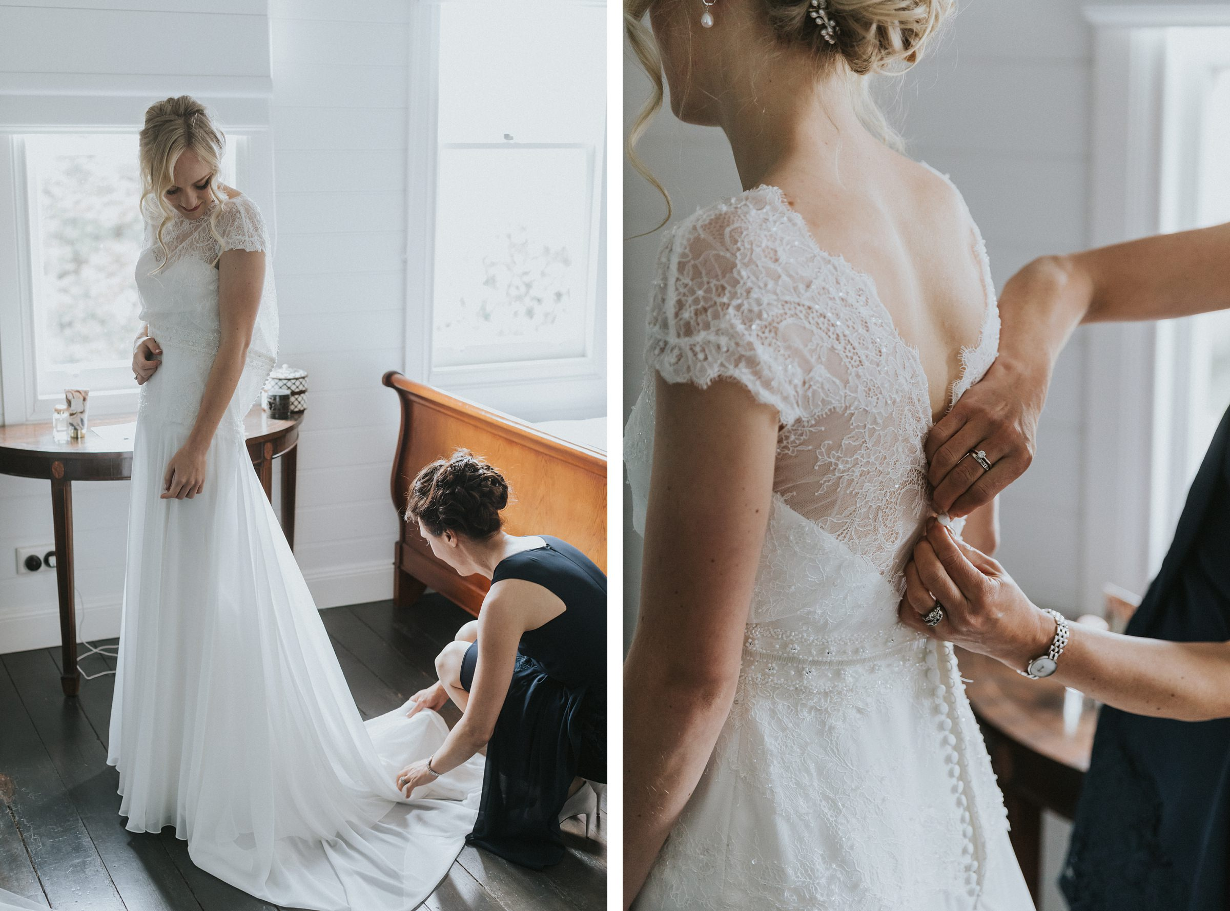 bridal preparations documentary wedding photography the coach house
