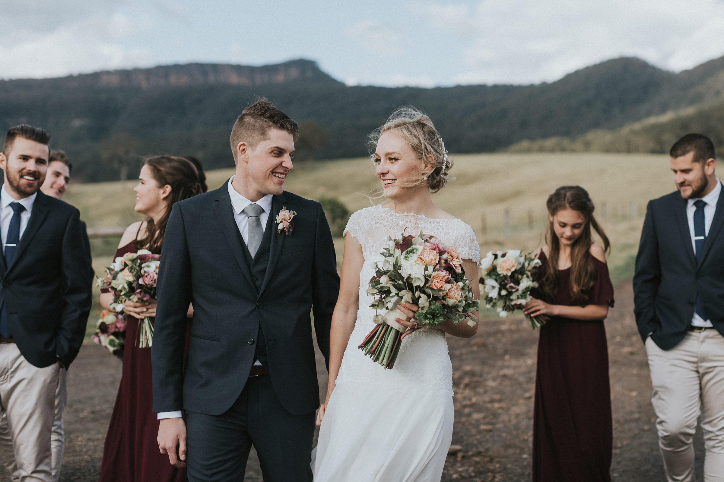 dane & berni at melross farm kangaroo valley wedding photos