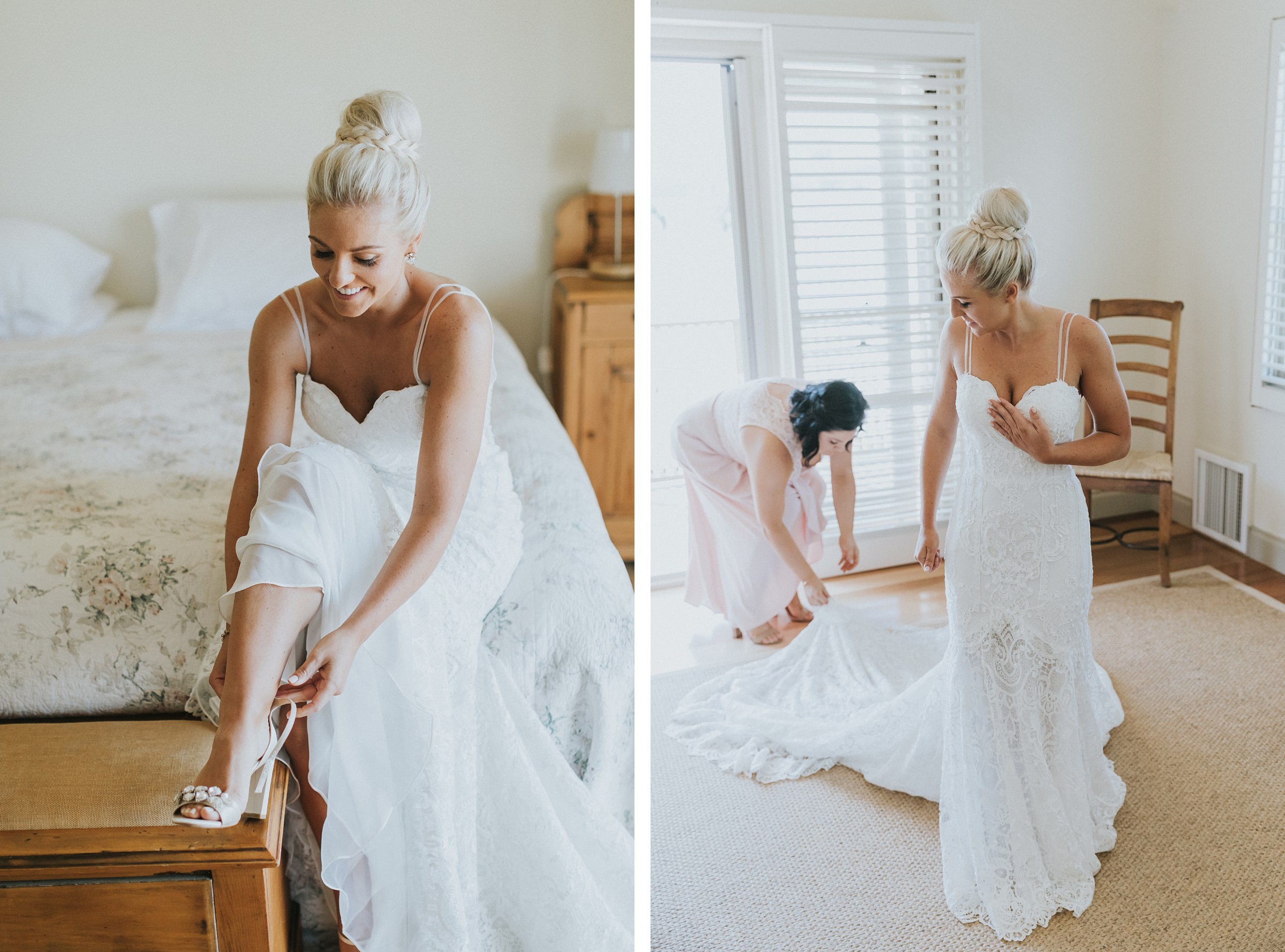 beautiful bride with Made With Love bridal gown on her wedding day