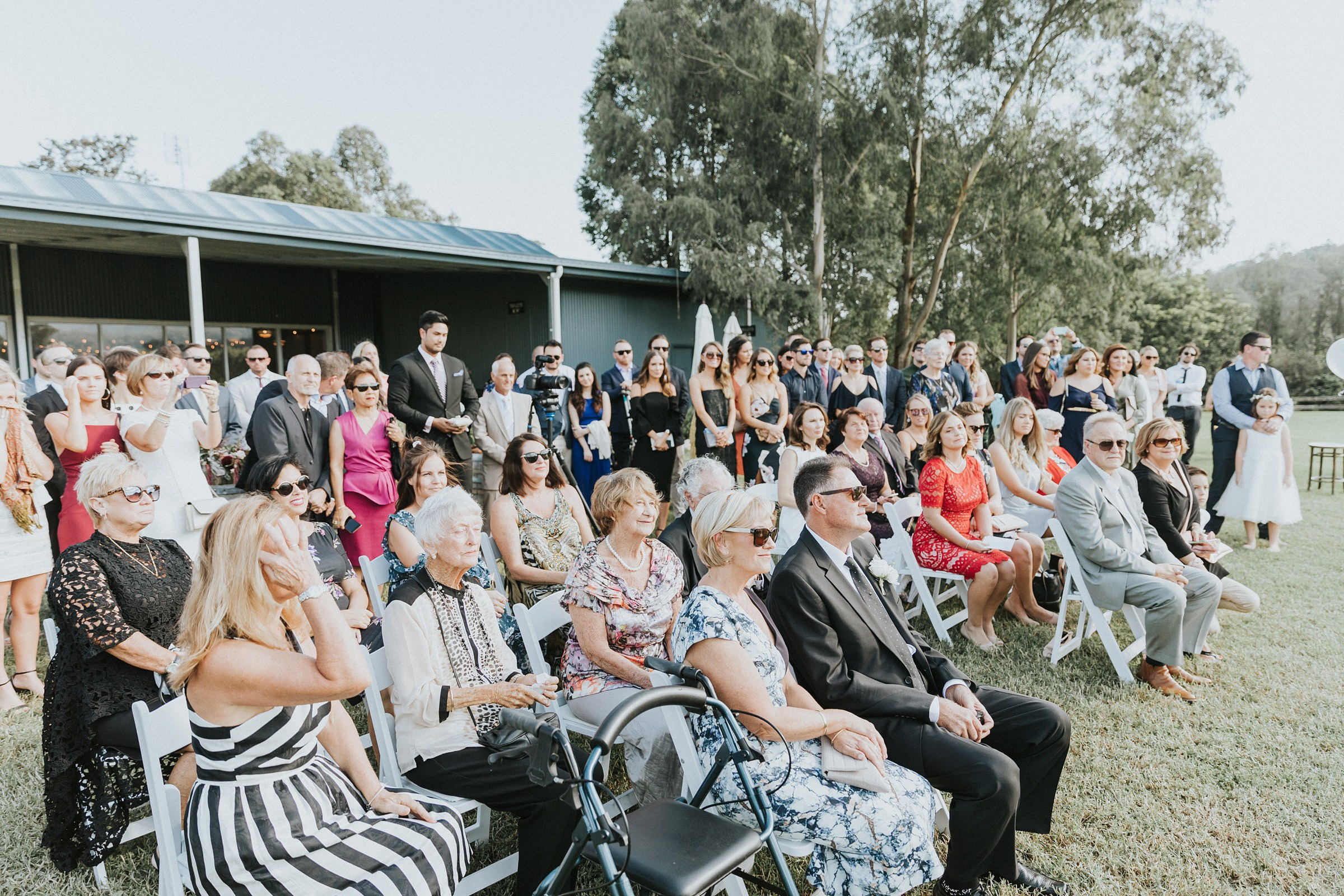 guests watching the ceremony at melross farm