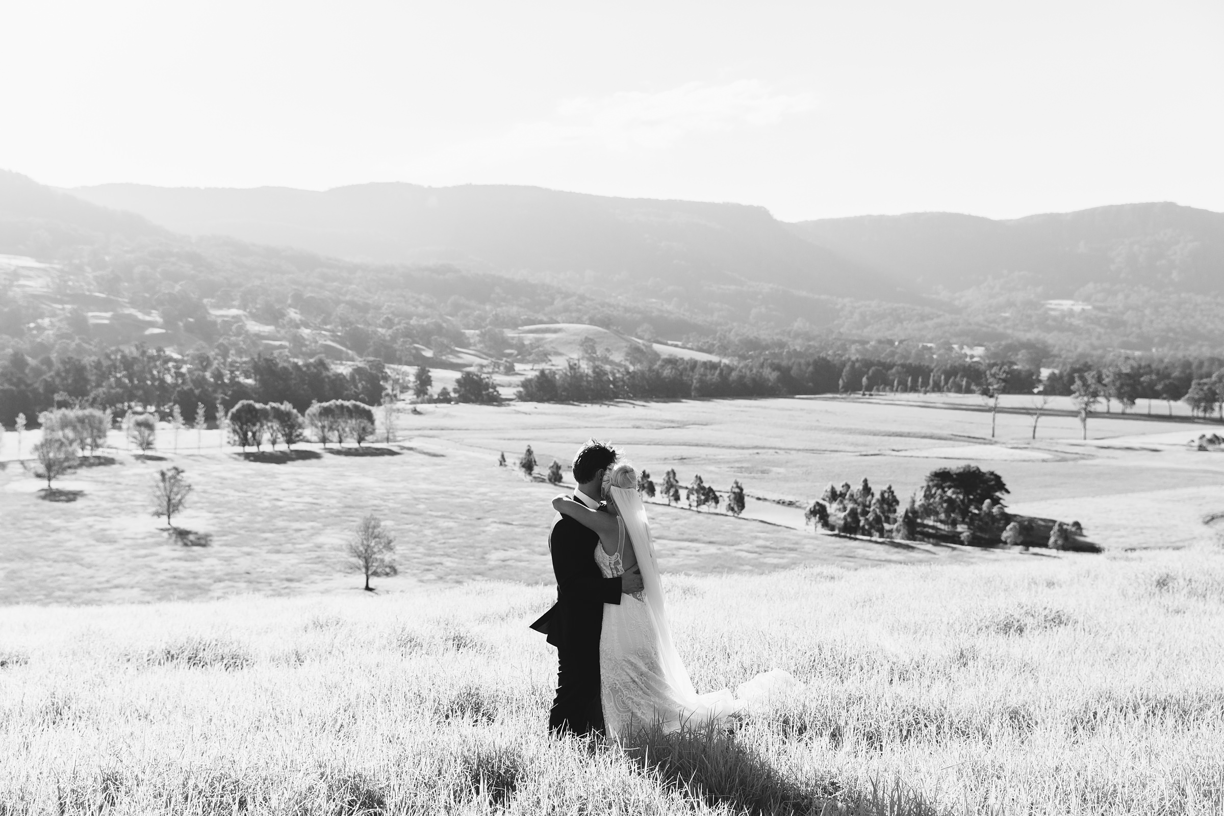 wedding sunset photos in kangaroo valley