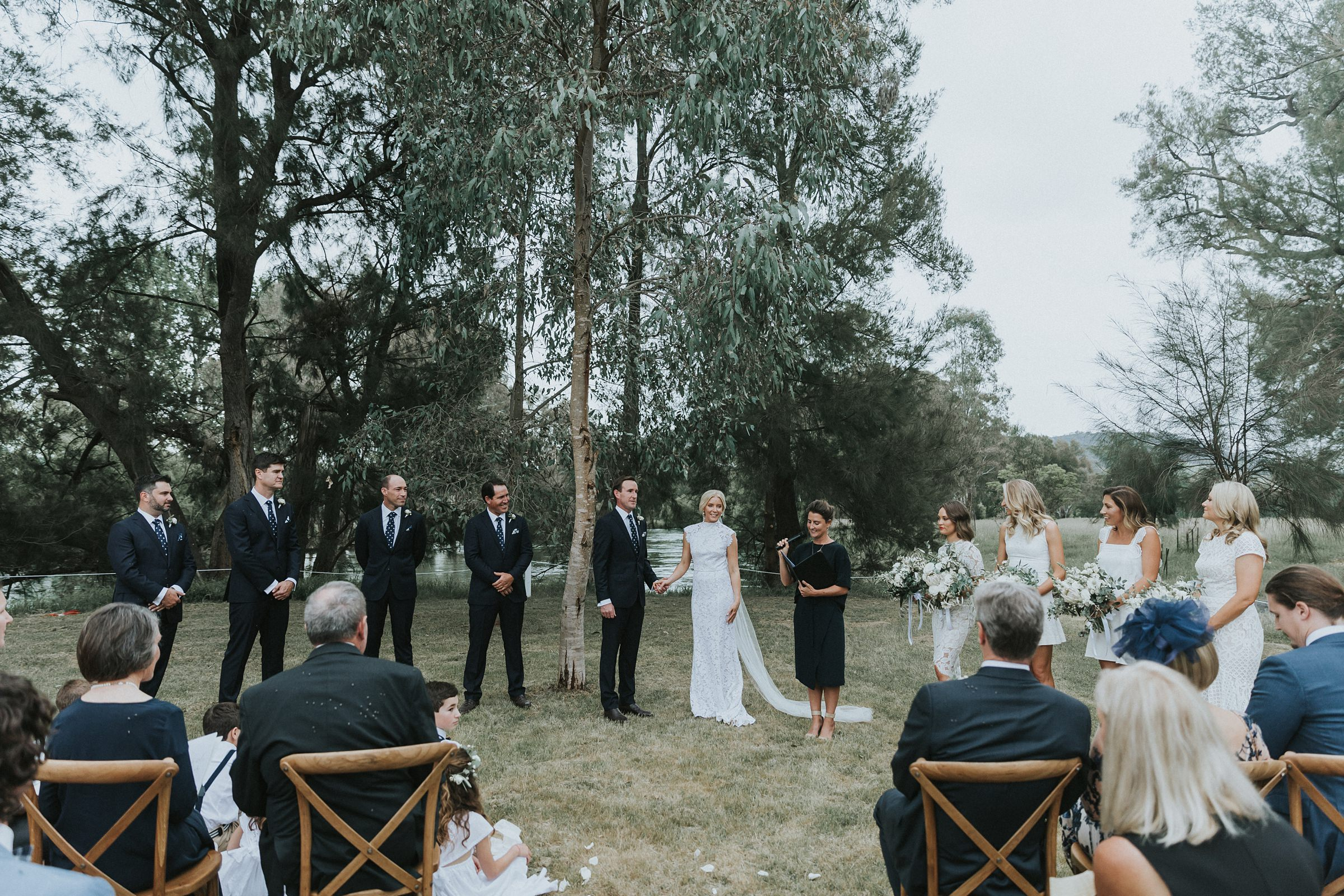 nimbo fork lodge wedding ceremony in tumut