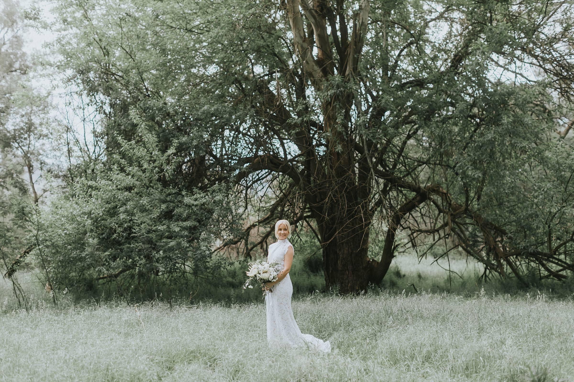 nimbo fork lodge wedding bride portrait