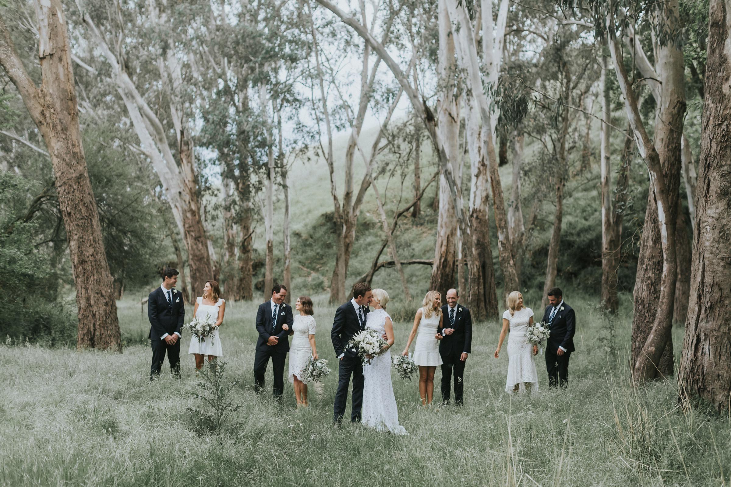 natural bridal party photos at nimbo fork lodge