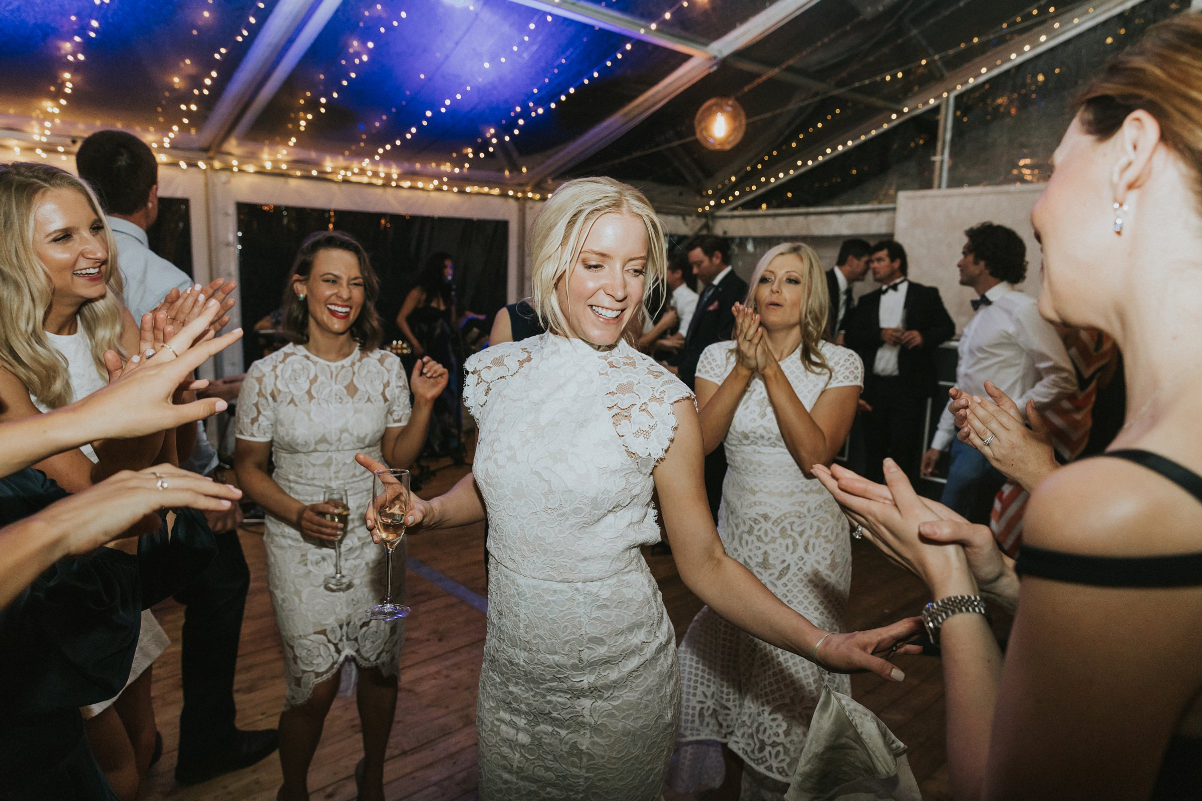 bride enjoys the dancing