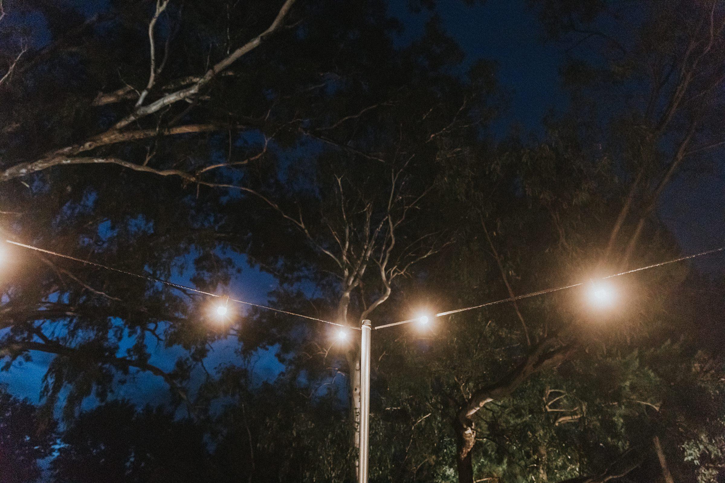 festoon lighting at nimfo fork lodge