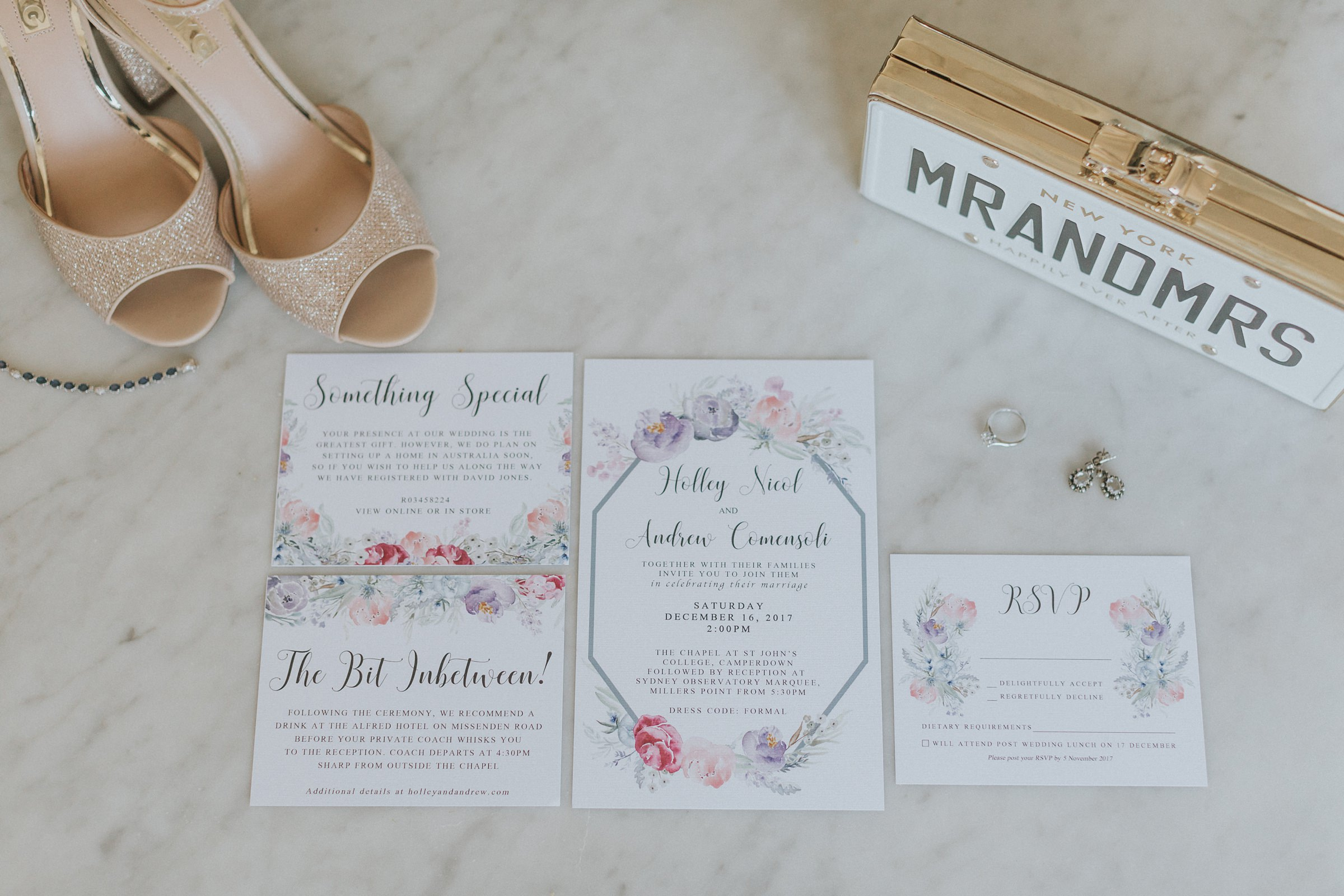 sydney brides wedding invitations and shoes