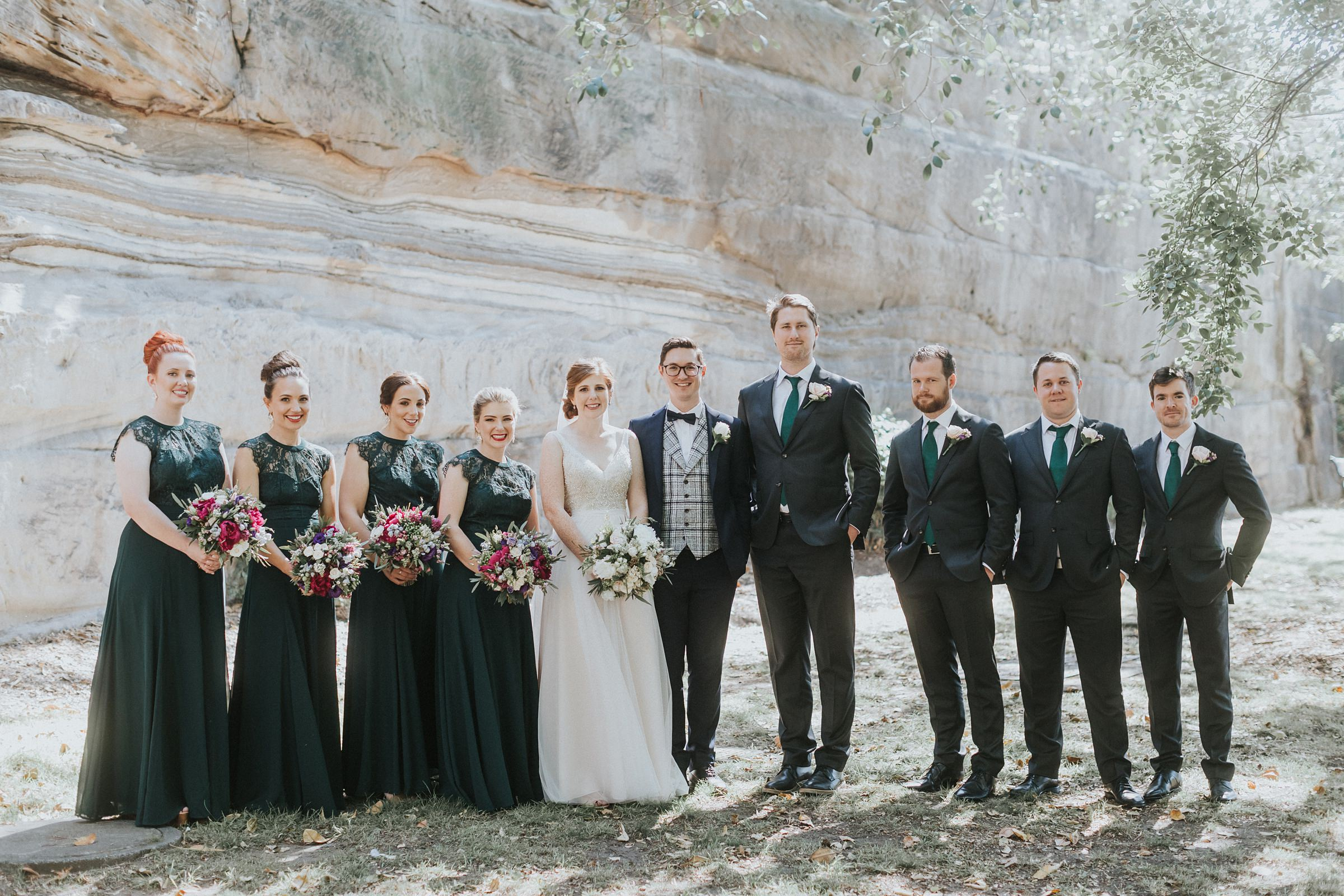 bridal party at the rocks on argyle st sydney
