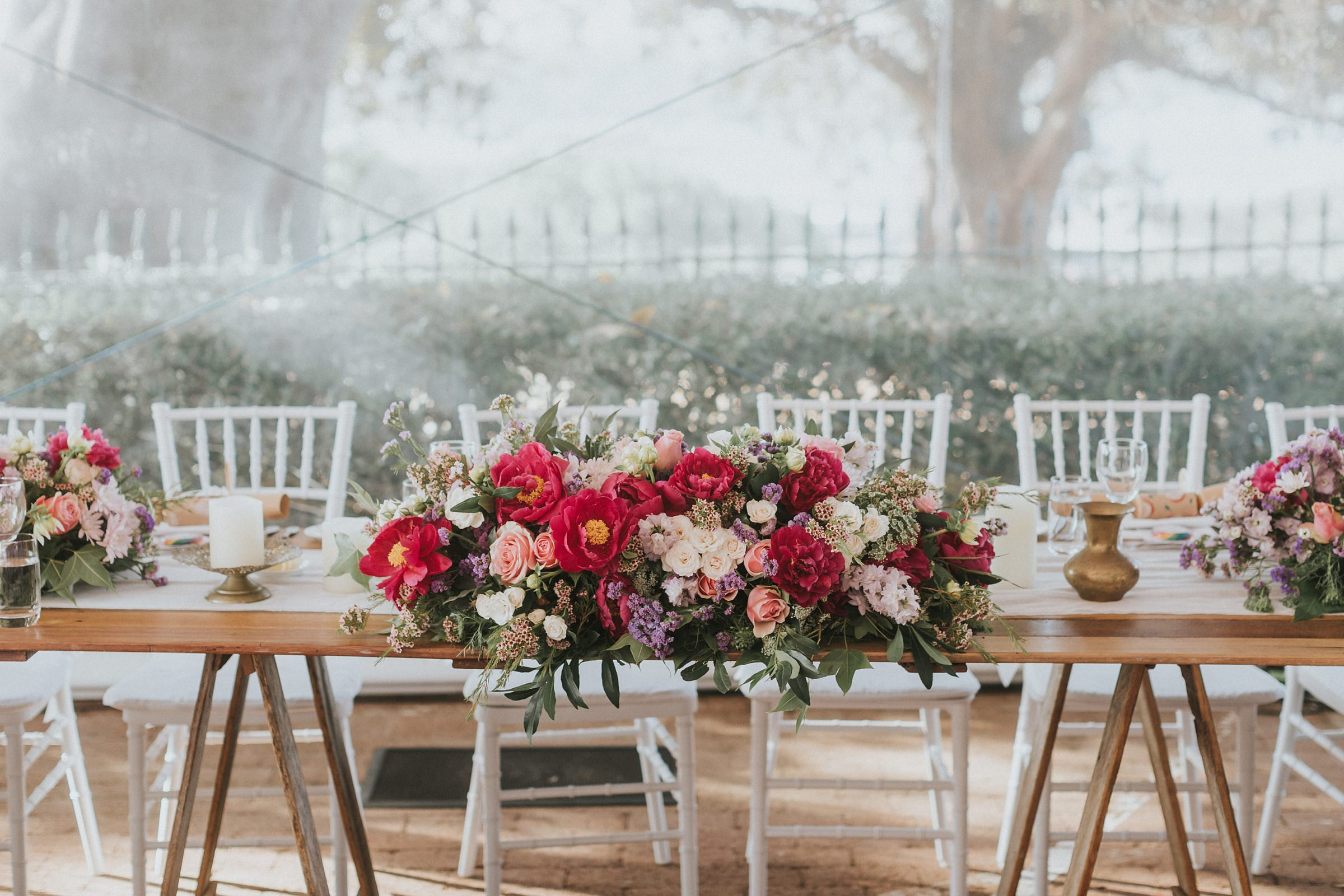 floral arrangements at sydney wedding at the observatory