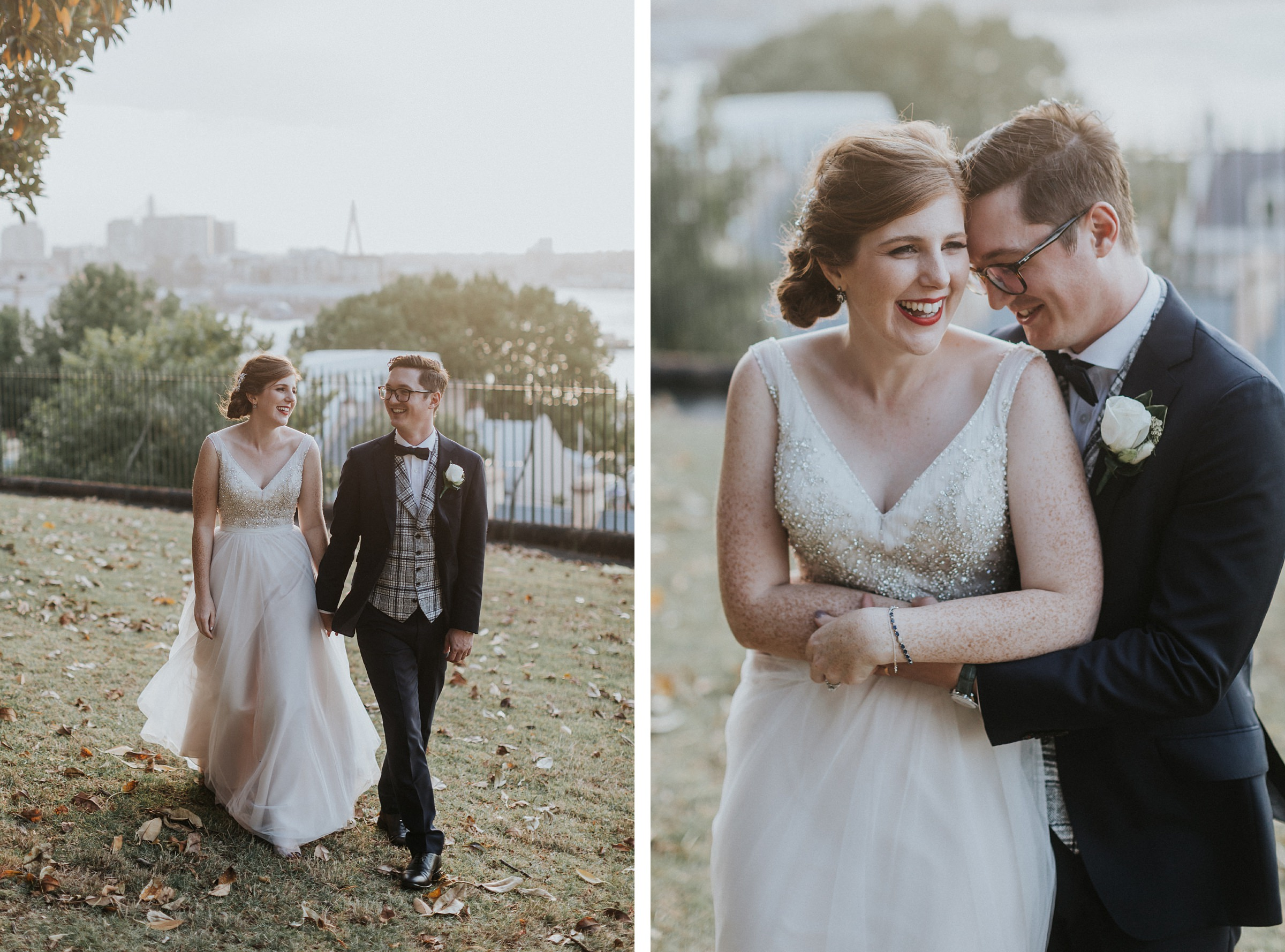 sydney observatory hill wedding portraits during golden hour